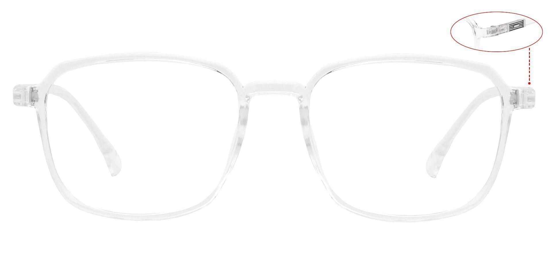 Stella Square Blue Light Blocking Glasses - Clear
