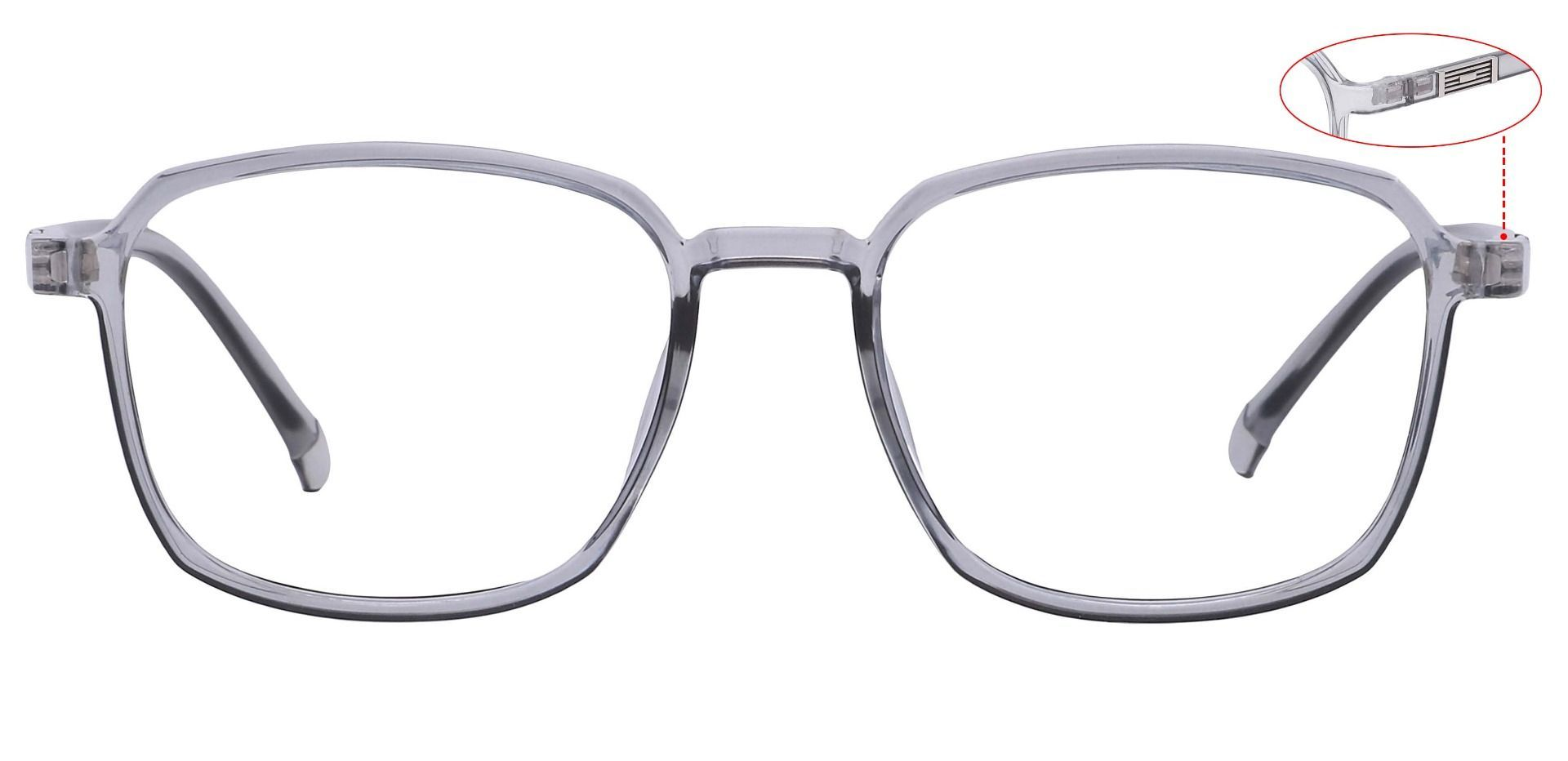 Stella Square Progressive Glasses - Gray