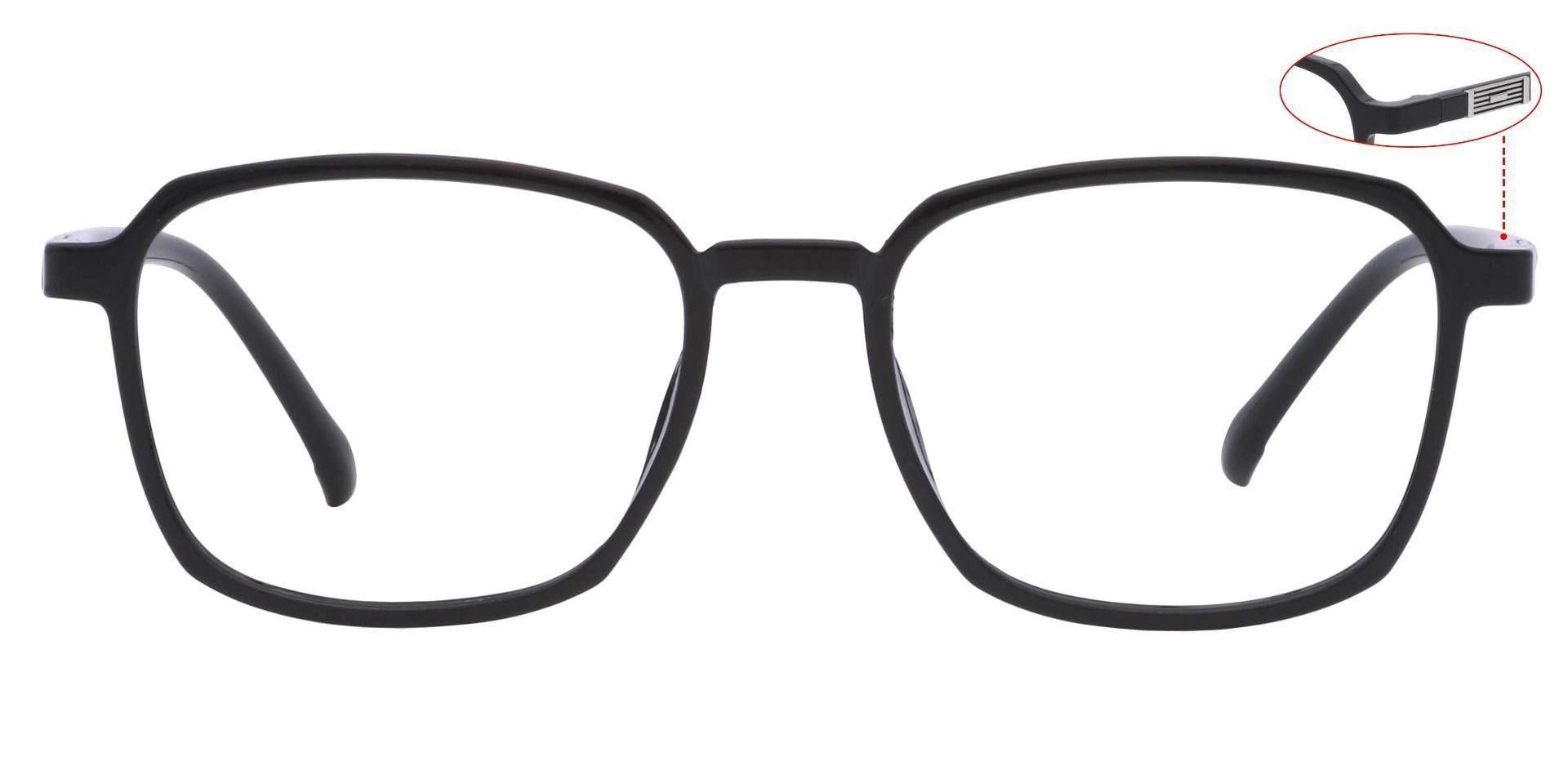 Stella Square Blue Light Blocking Glasses - Black