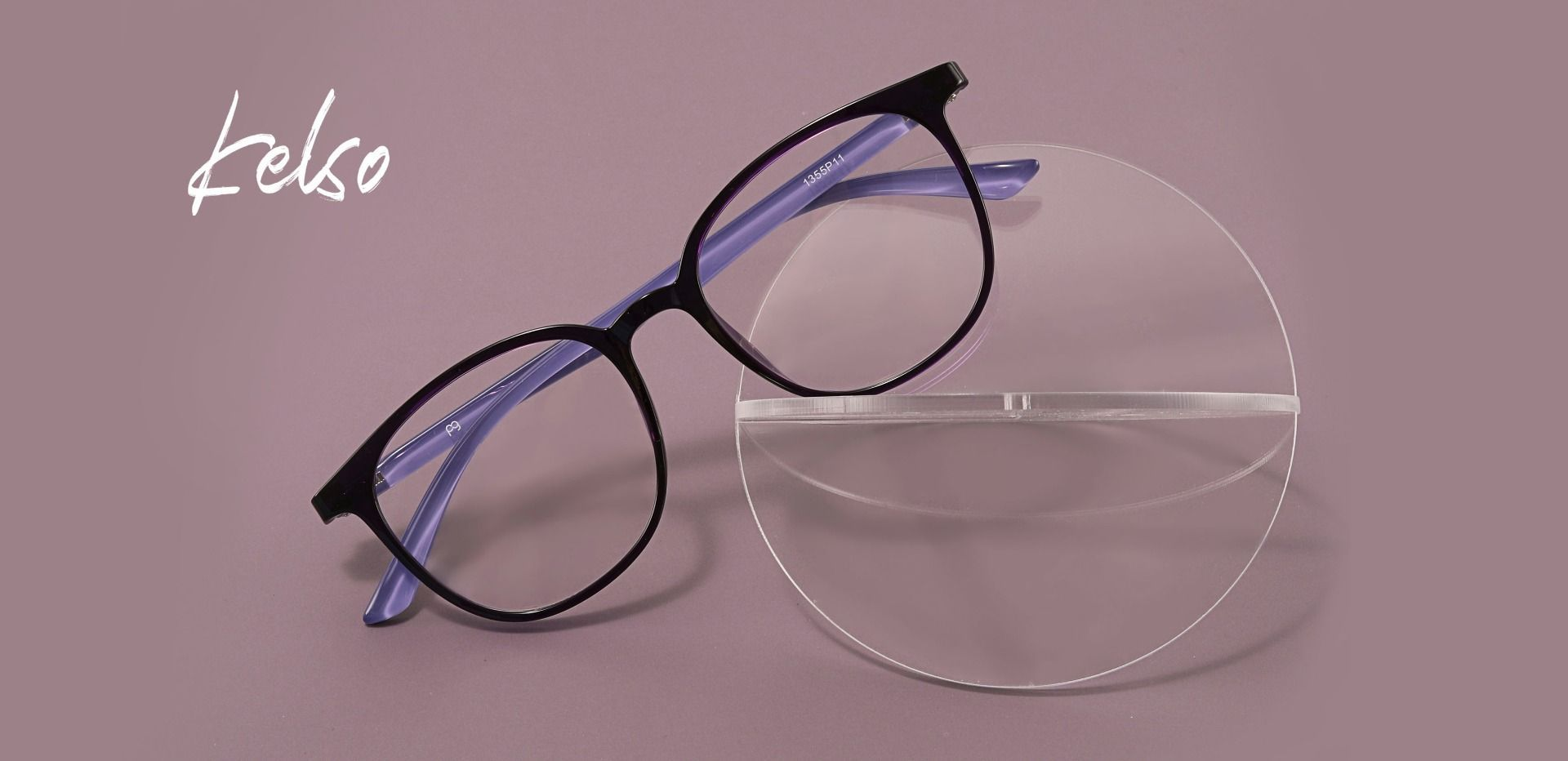 Kelso Square Prescription Glasses - Purple