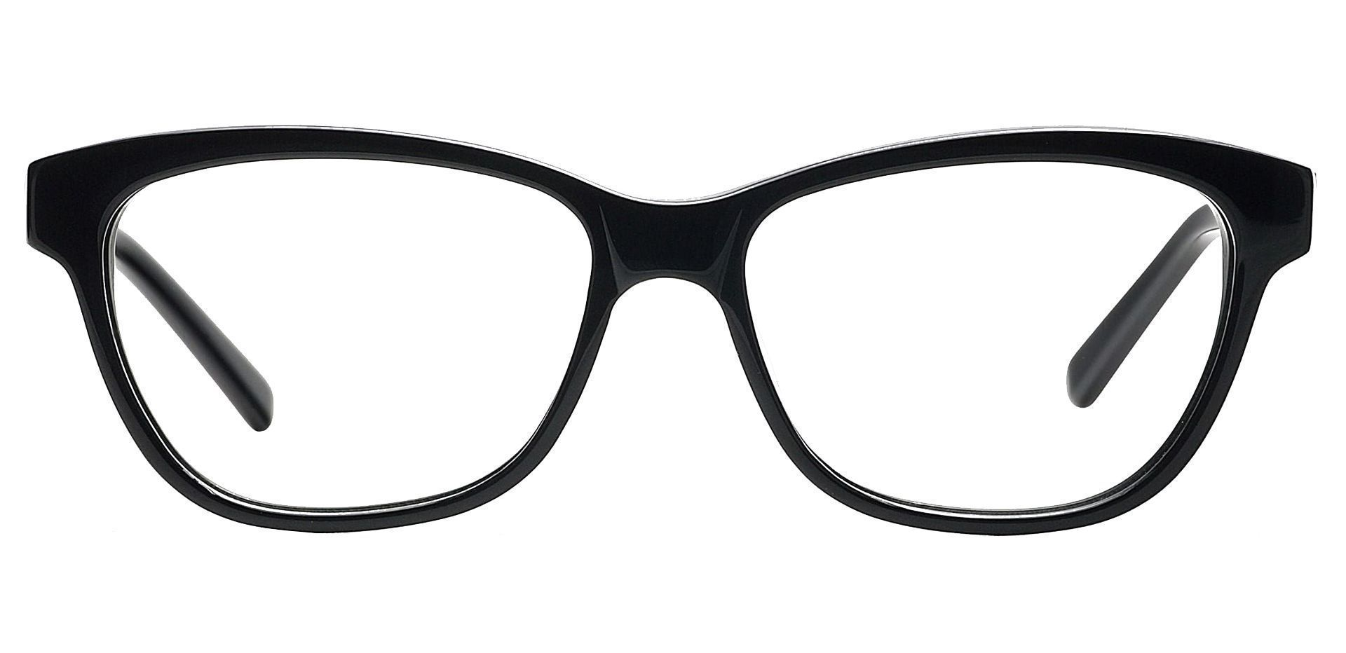 Verve Cat-eye Lined Bifocal Glasses - Black