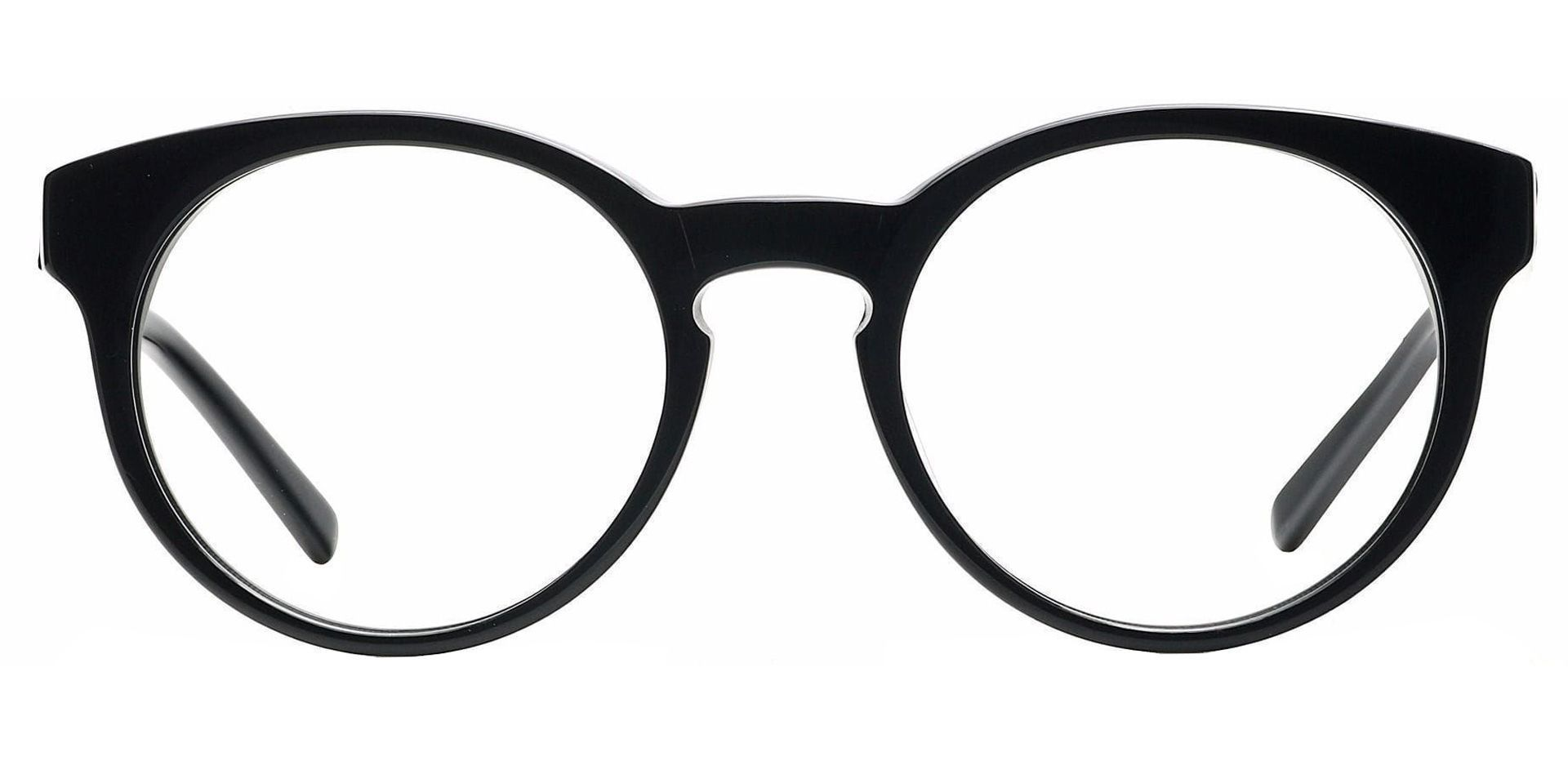 Hip Round Lined Bifocal Glasses - Black