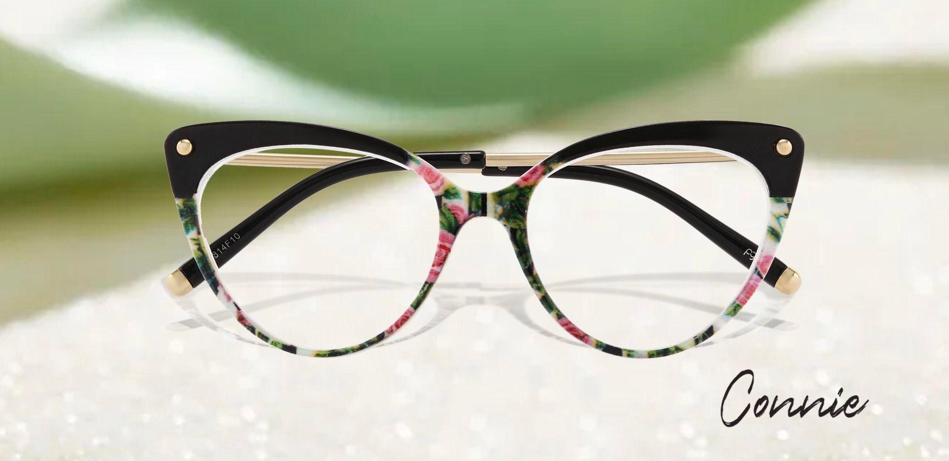 Connie Cat Eye Prescription Glasses - Floral