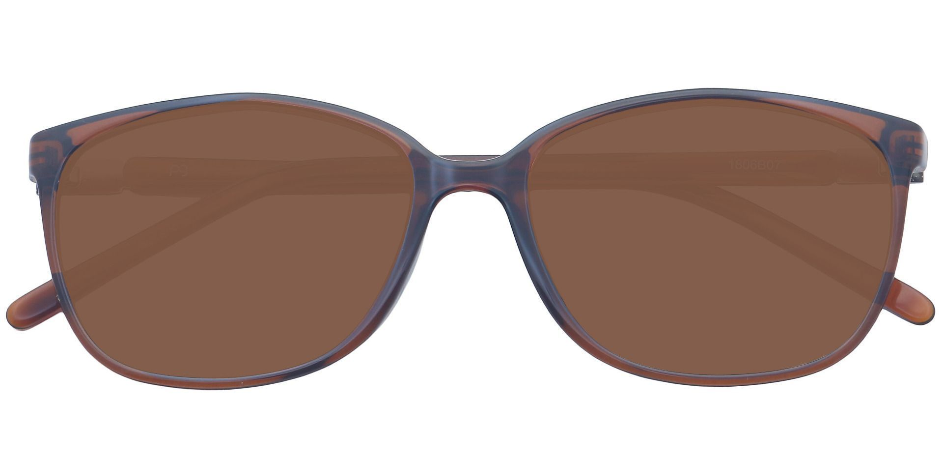 Archie Square Prescription Sunglasses - Brown Frame With Brown Lenses