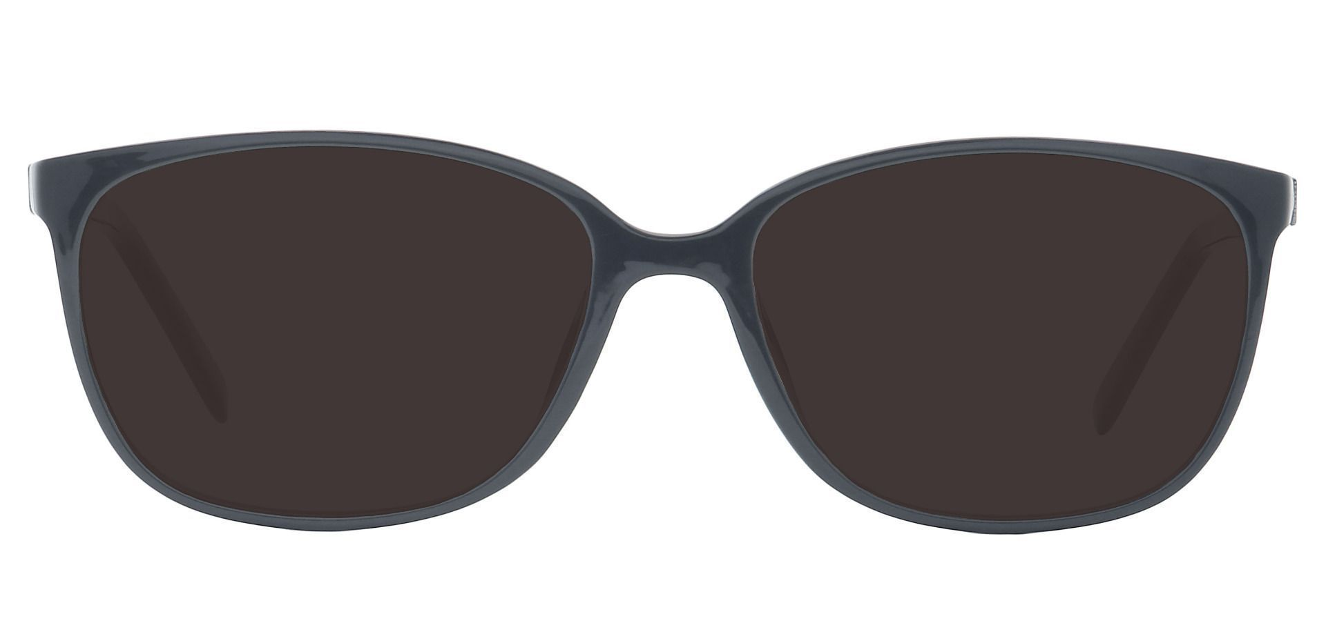 Archie Square Prescription Sunglasses - Black Frame With Gray Lenses