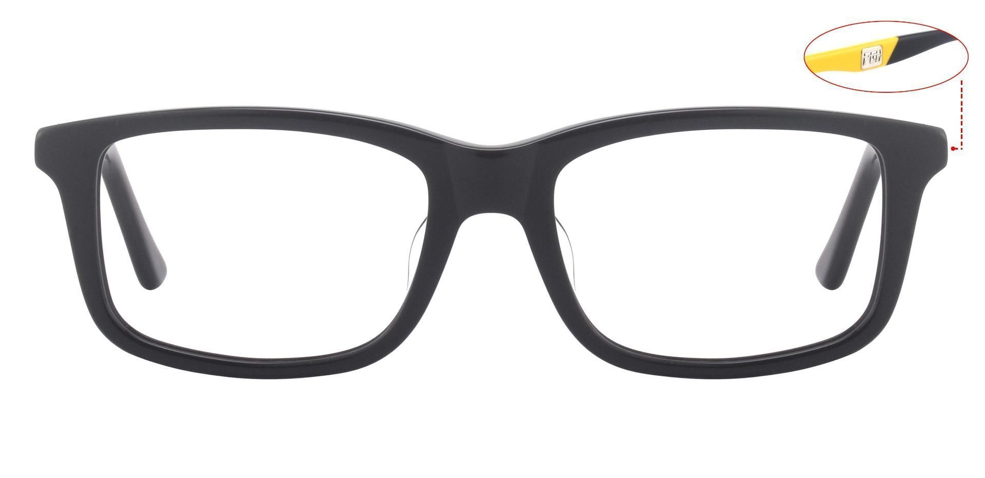 Allegheny Rectangle Reading Glasses - Black-yellow