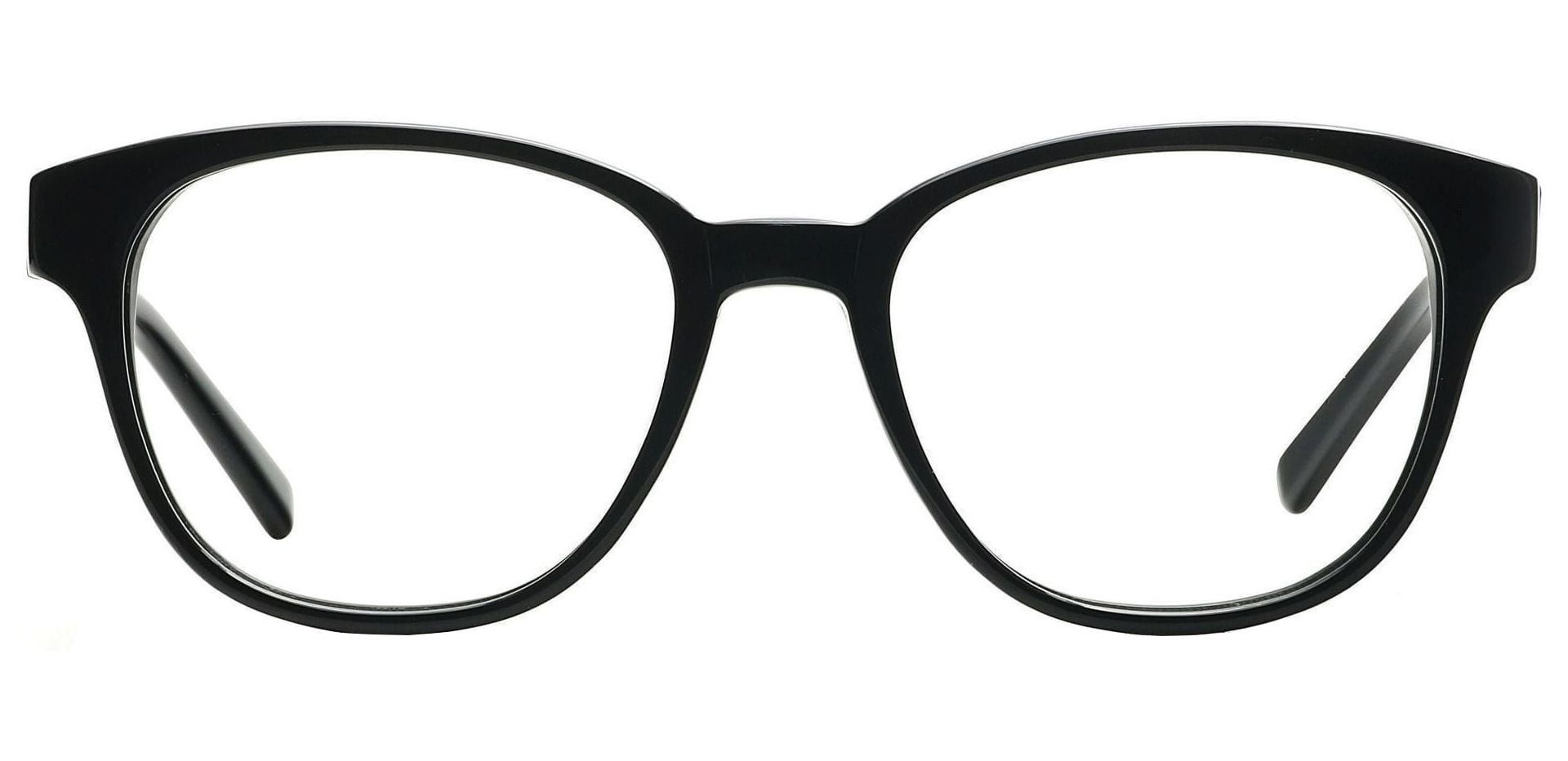 Elan Classic Square Non-Rx Glasses - Black