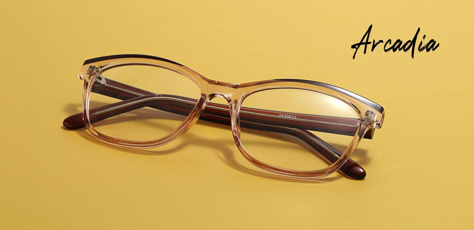 Arcadia Cat Eye Prescription Glasses - Brown