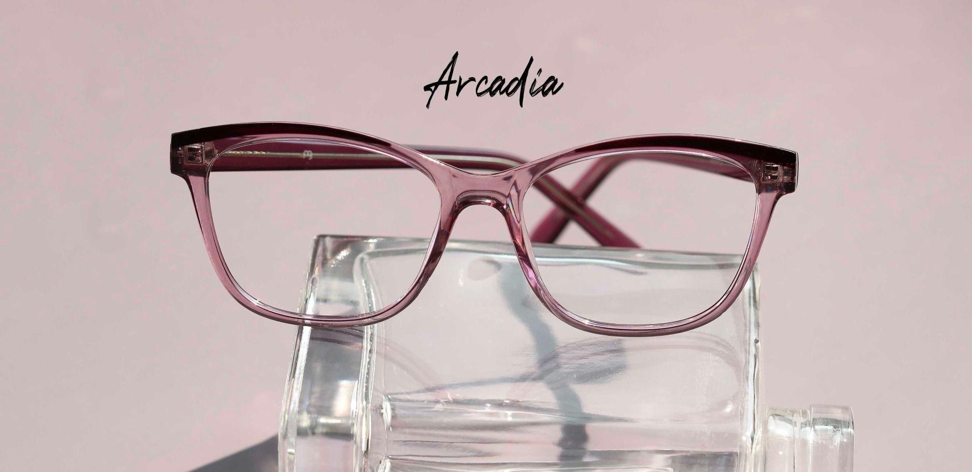 Arcadia Cat Eye Prescription Glasses - Purple