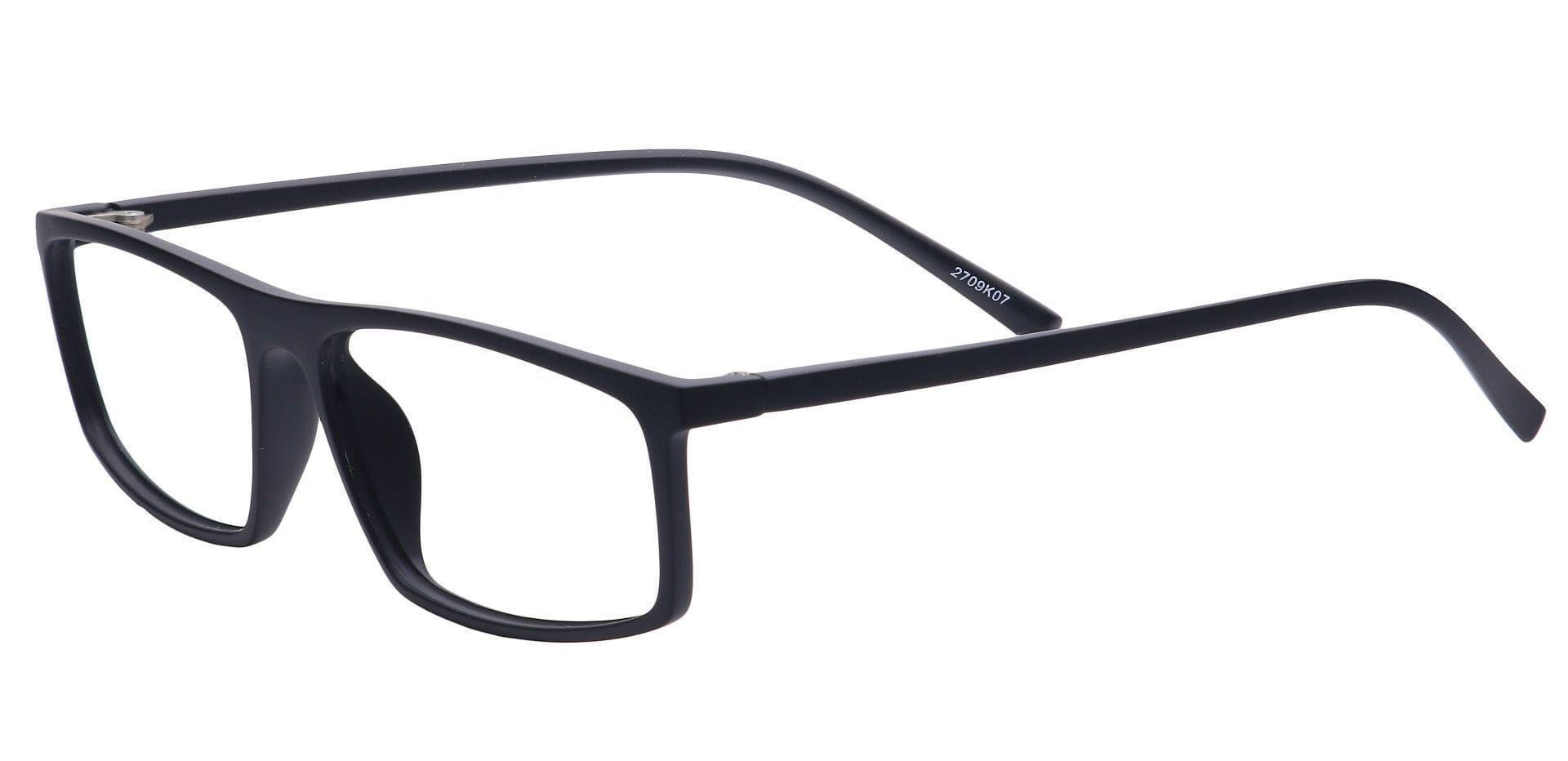Deft Rectangle Lined Bifocal Glasses - Black
