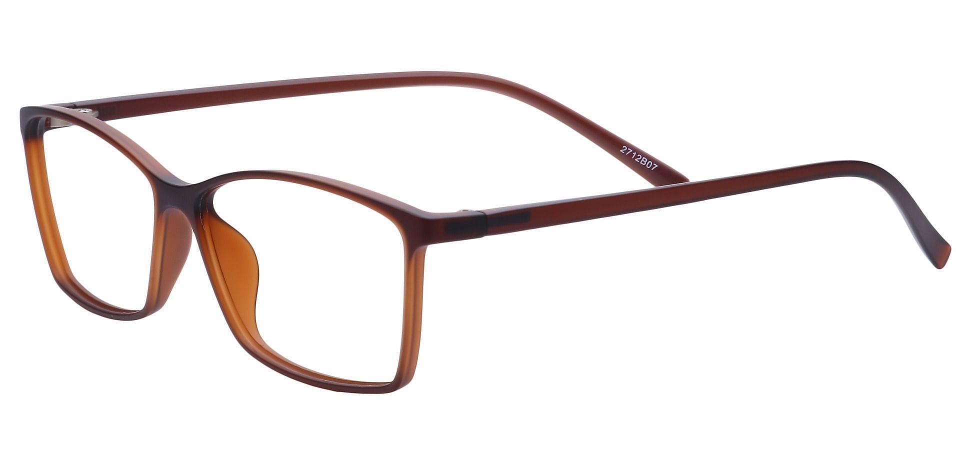 Align Rectangle Blue Light Blocking Glasses -  Matte Brown