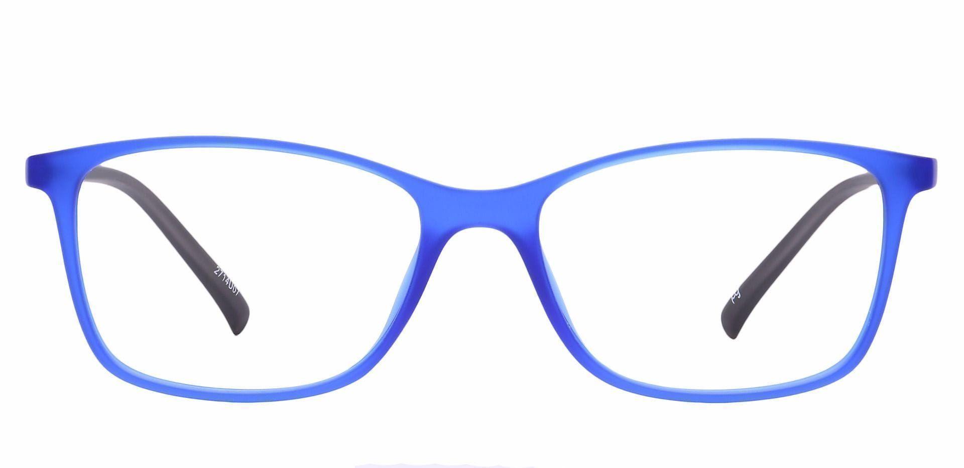 Key Rectangle Prescription Glasses - Blue