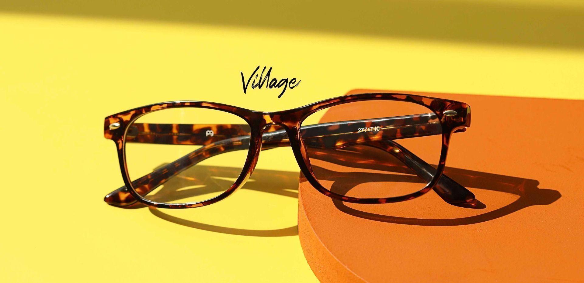 Village Rectangle Prescription Glasses - Tortoise