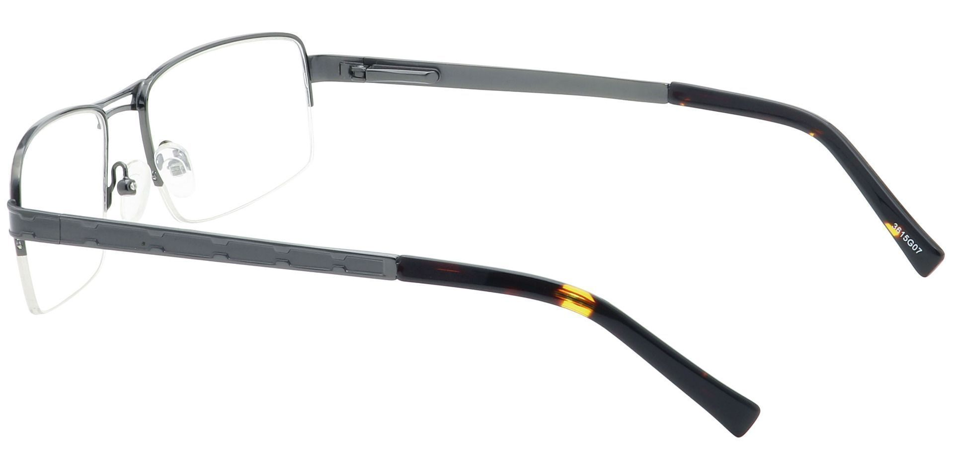 Winter Rectangle Lined Bifocal Glasses - Gray