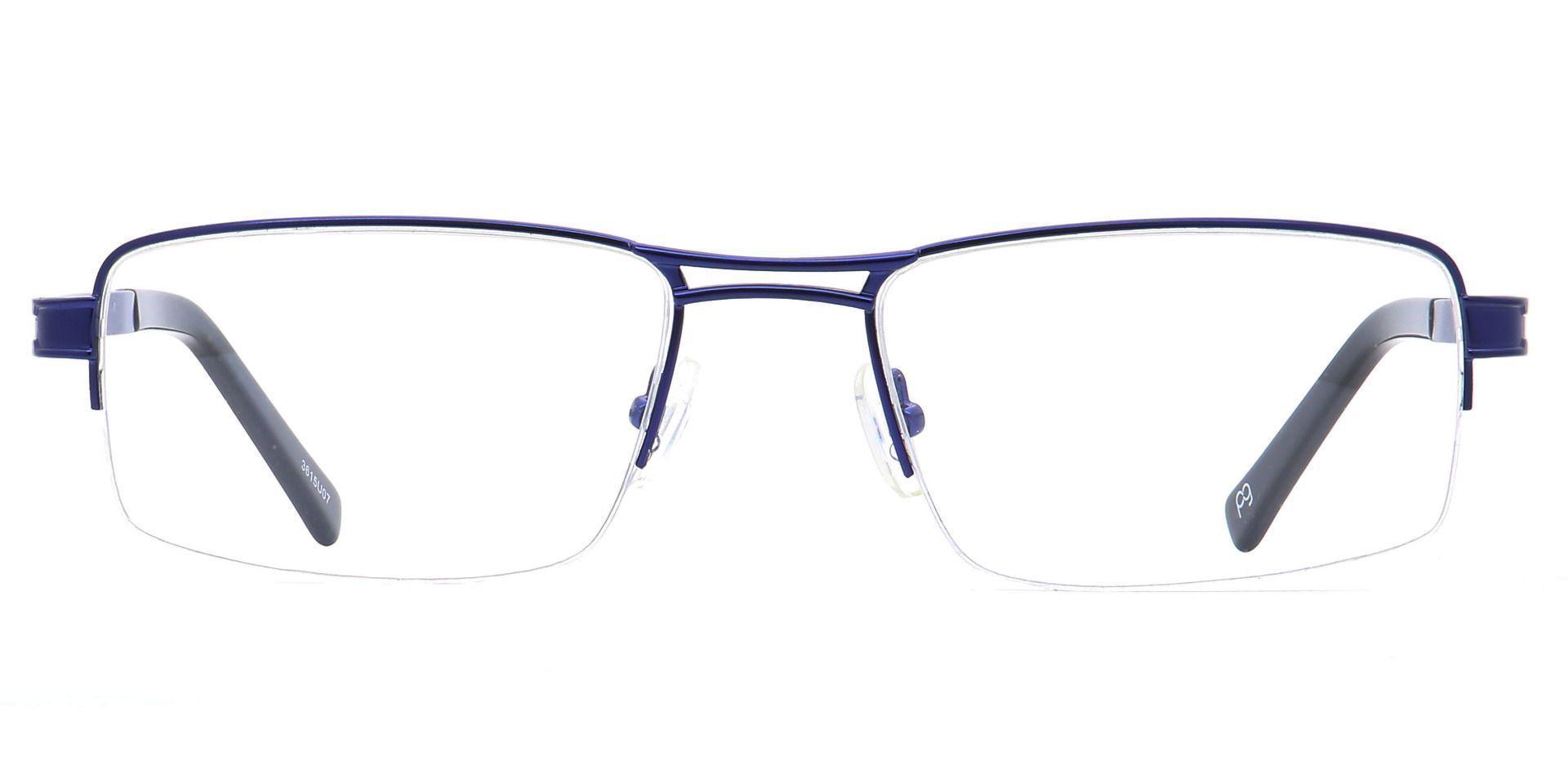 Winter Rectangle Blue Light Blocking Glasses - Blue