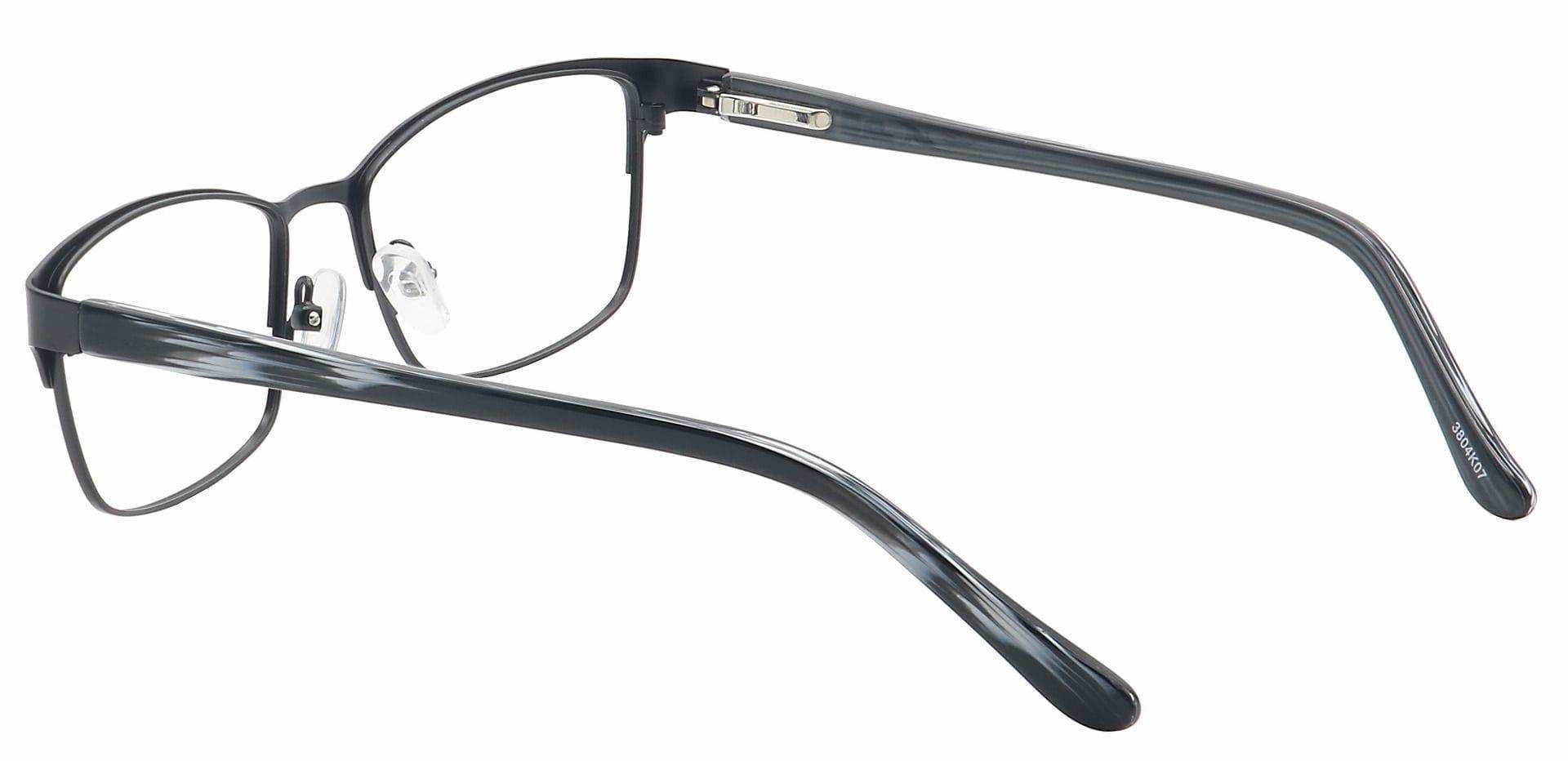 Leo Rectangle Prescription Glasses - Black
