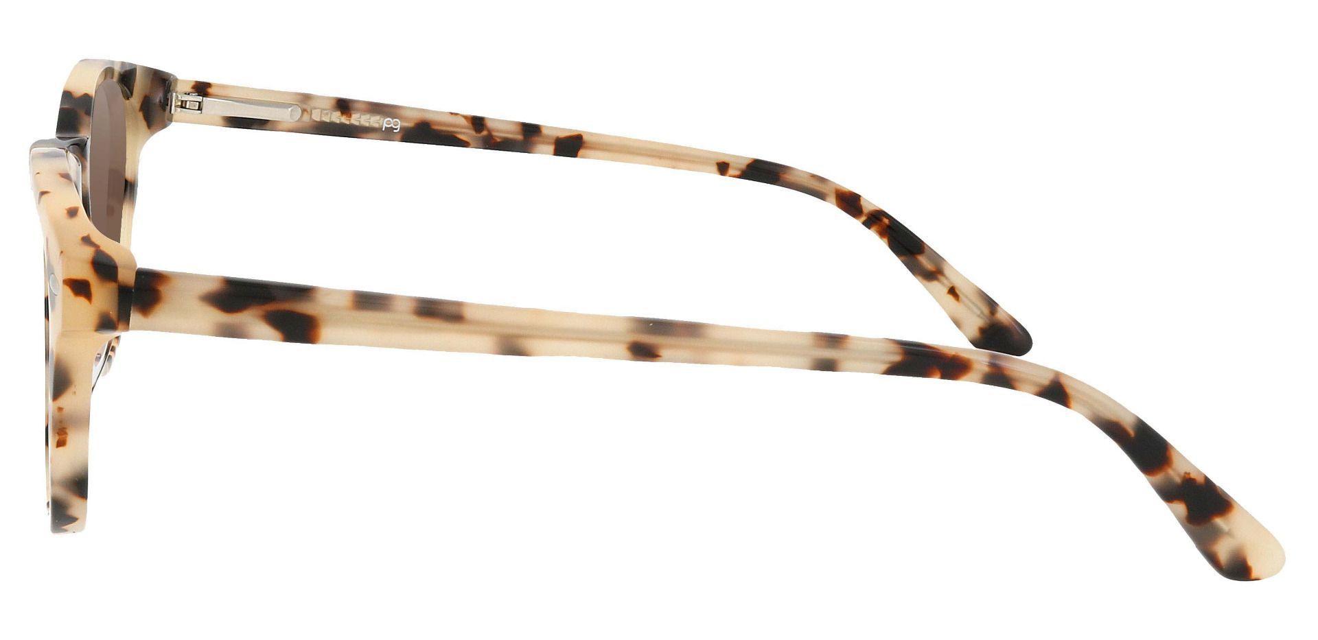 Laguna Oval Prescription Sunglasses - Leopard Frame With Brown Lenses