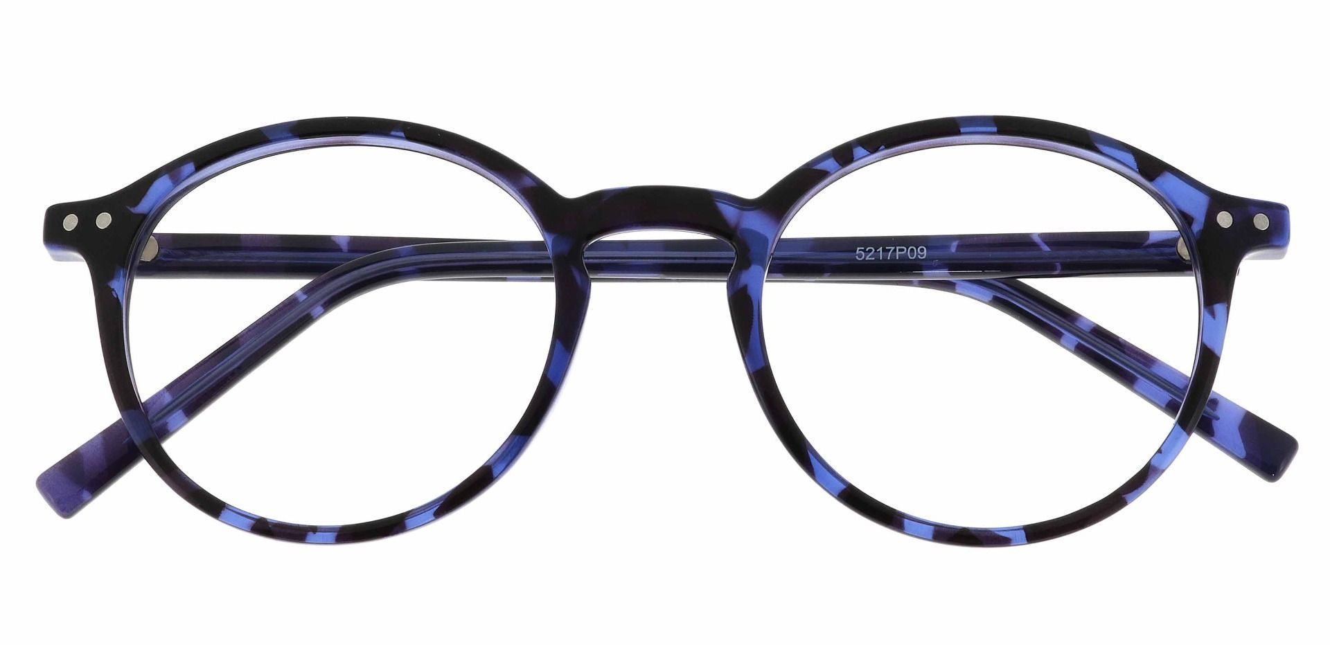 Harvard Round Prescription Glasses - Blue