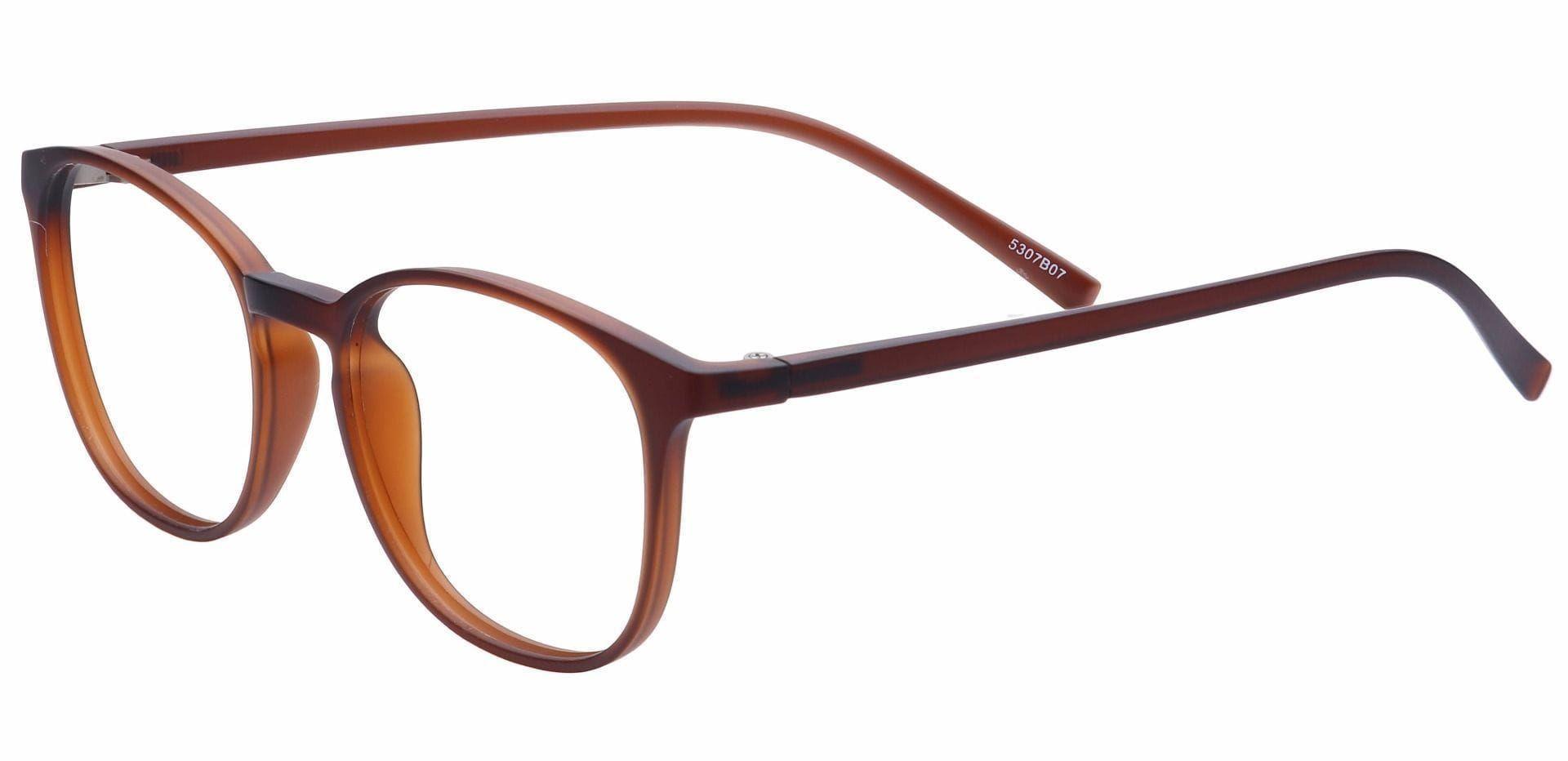 Hip Oval Prescription Glasses - Brown