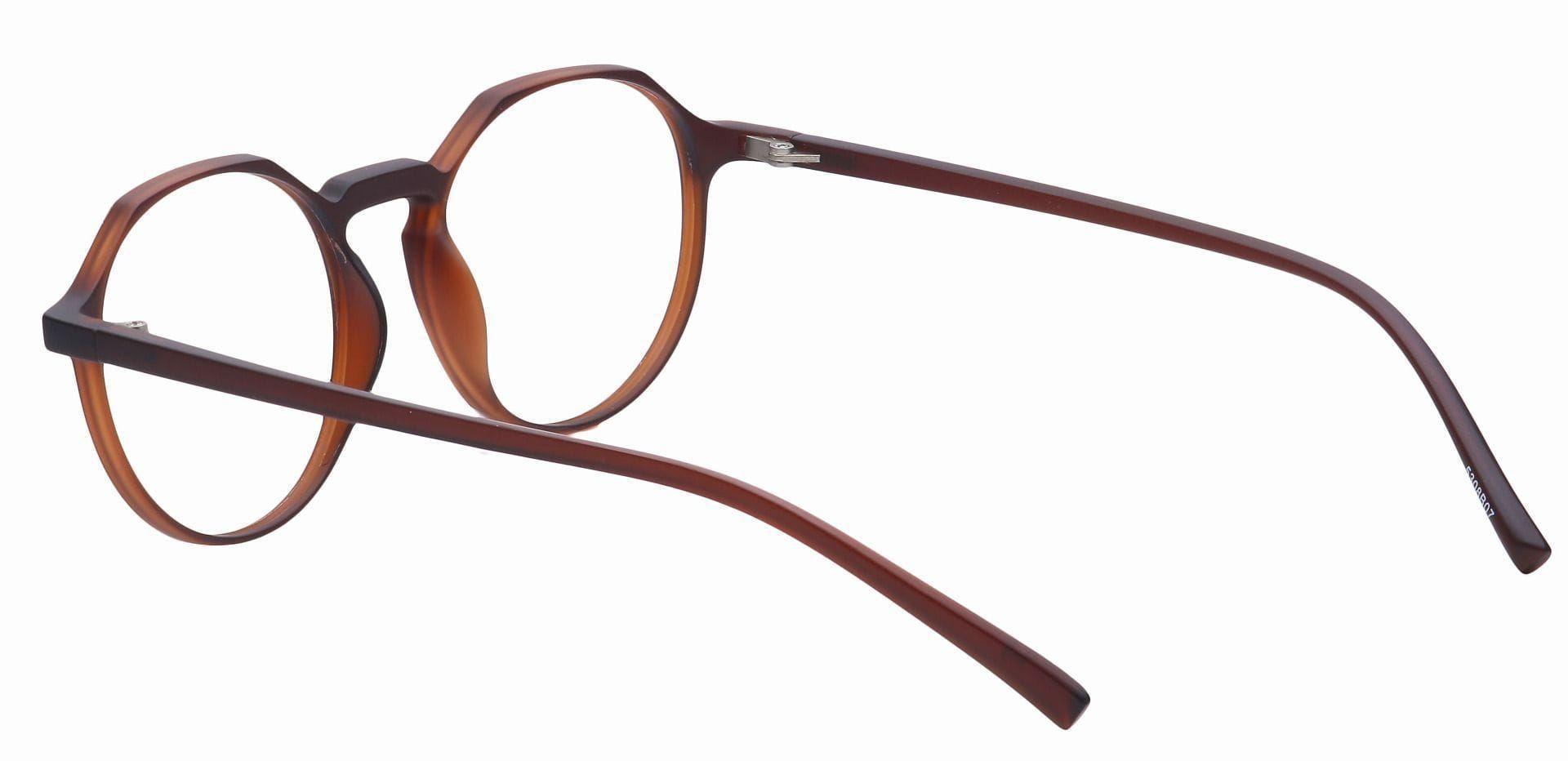 Paragon Oval Prescription Glasses - Brown