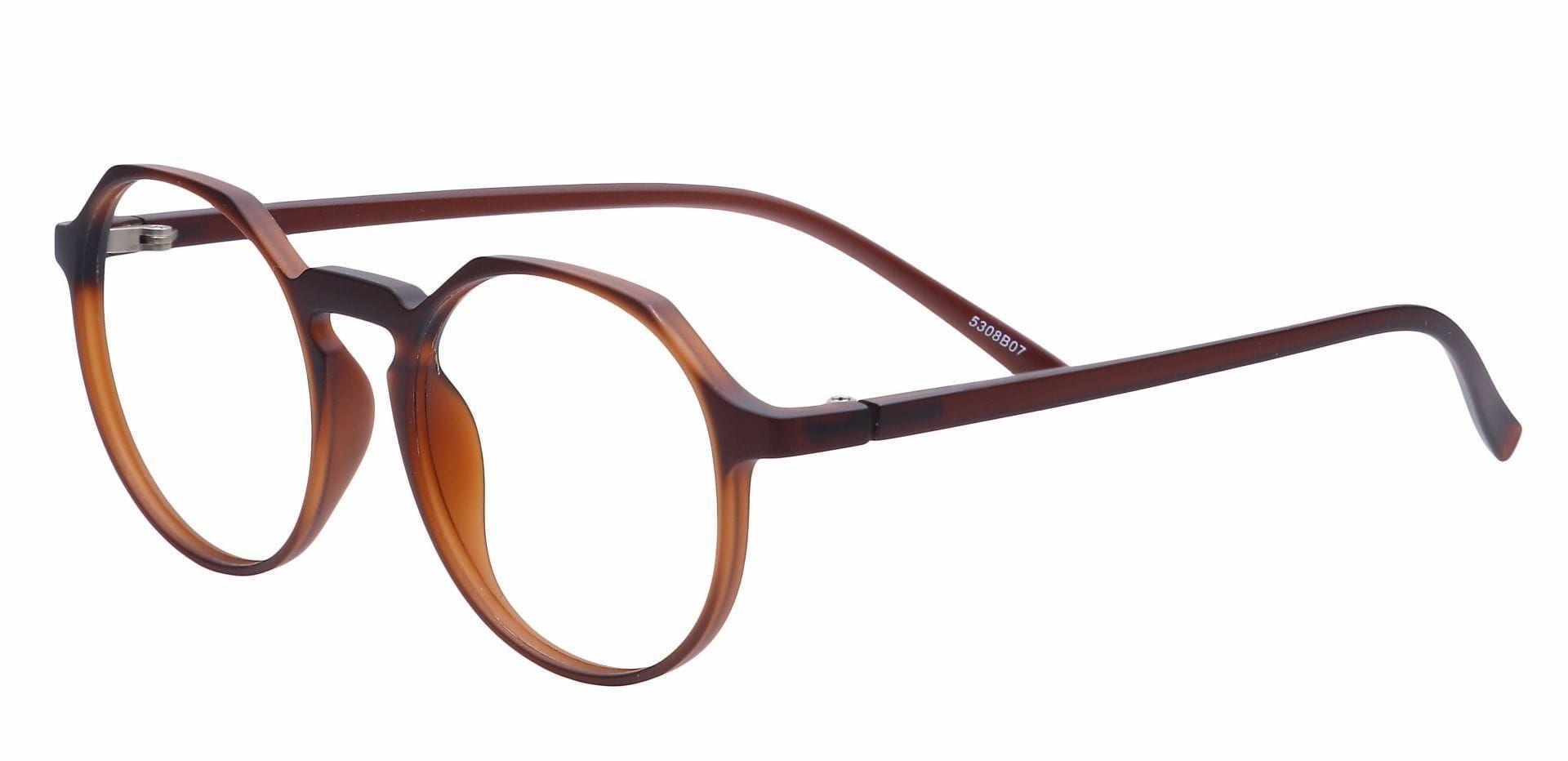 Dash Oval Progressive Glasses - Brown