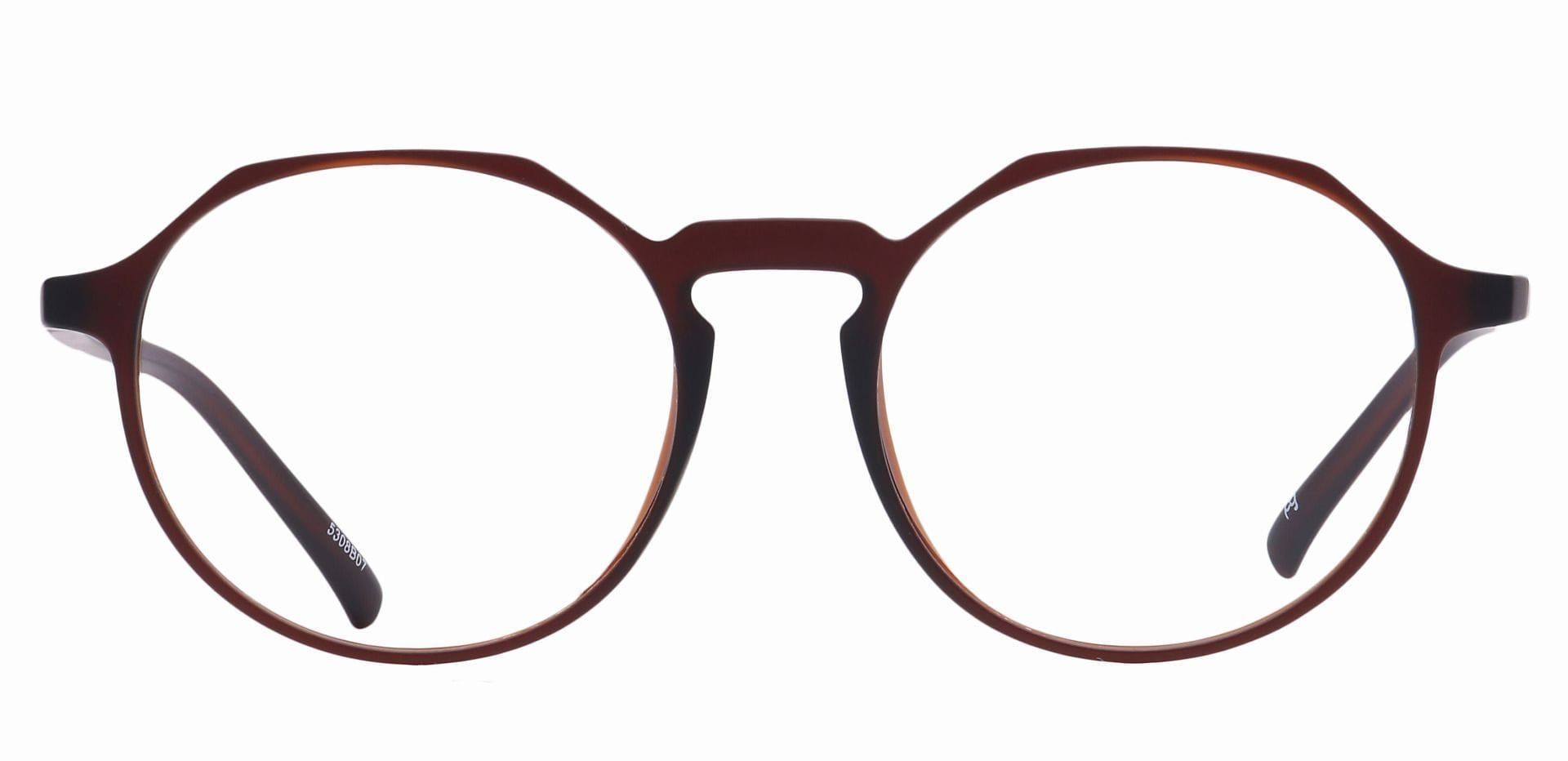 Paragon Oval Non-Rx Glasses - Brown