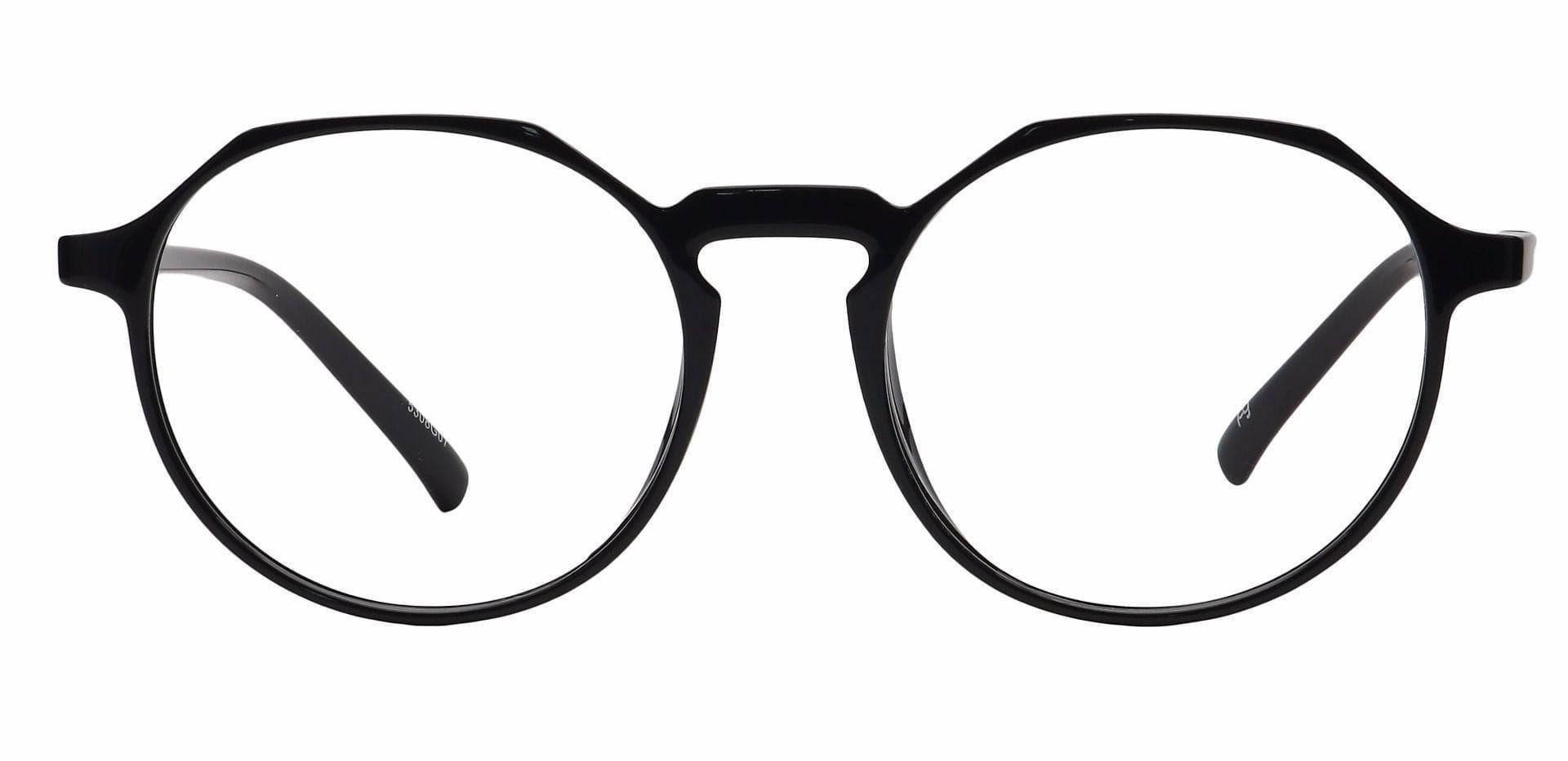 Dash Oval Lined Bifocal Glasses - Black