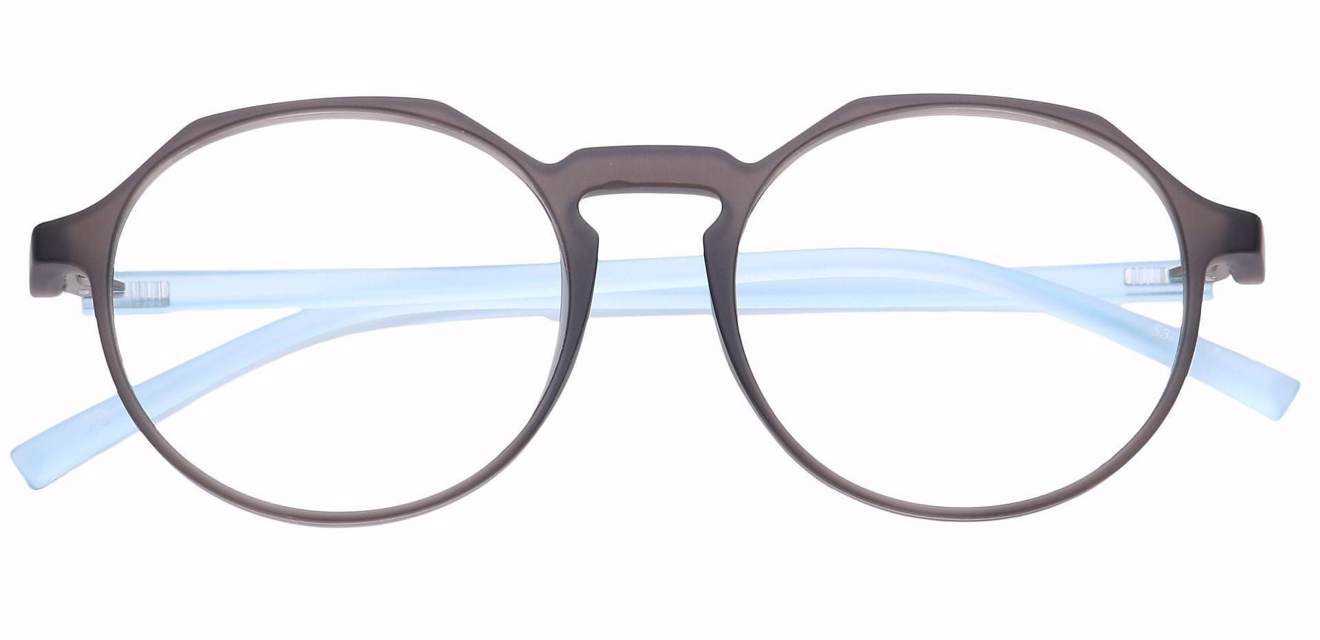 Dash Oval Eyeglasses Frame - Gray