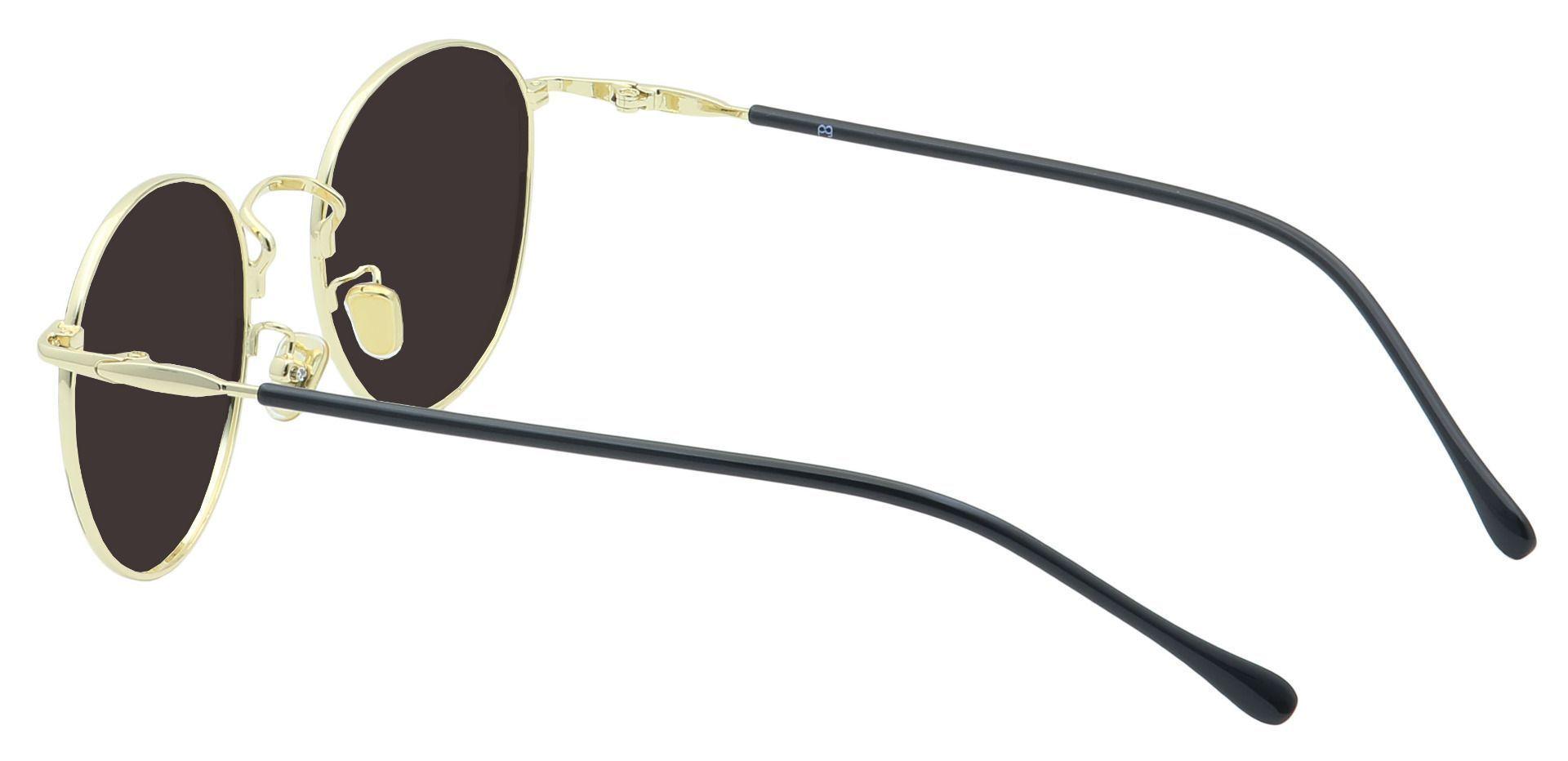 Metro Round Prescription Sunglasses - Black Frame With Gray Lenses