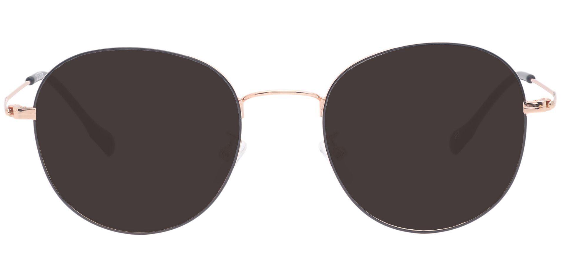 Miller Oval Prescription Sunglasses - Black Frame With Gray Lenses