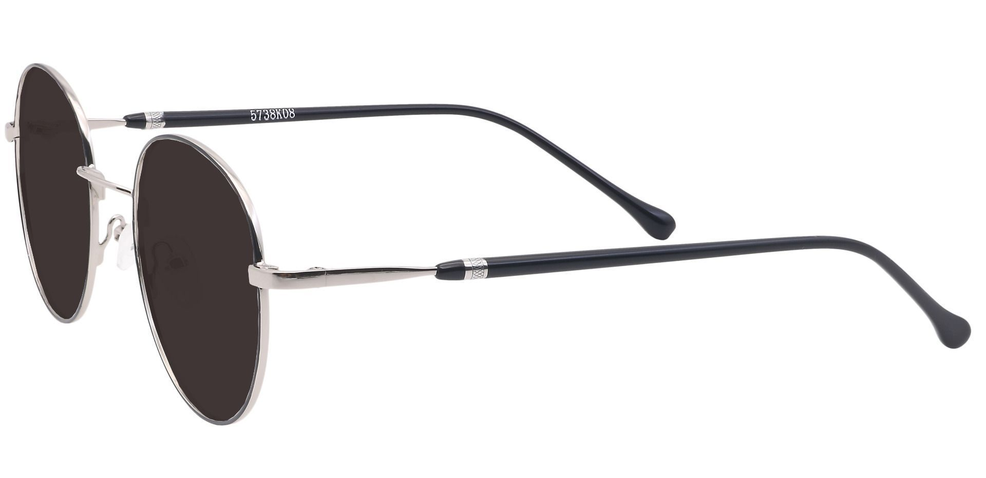 Marlow Oval Prescription Sunglasses - Black Frame With Gray Lenses