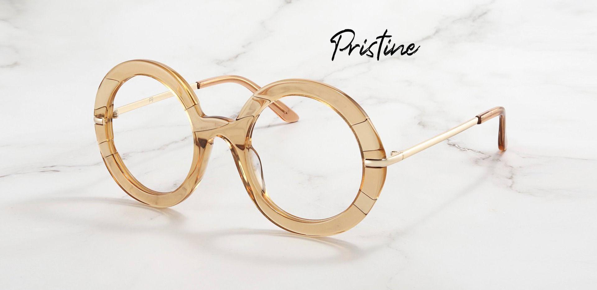 Pristine Round Prescription Glasses - Brown