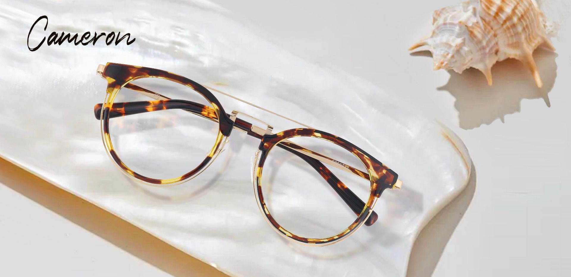 Cameron Aviator Prescription Glasses - Tortoise