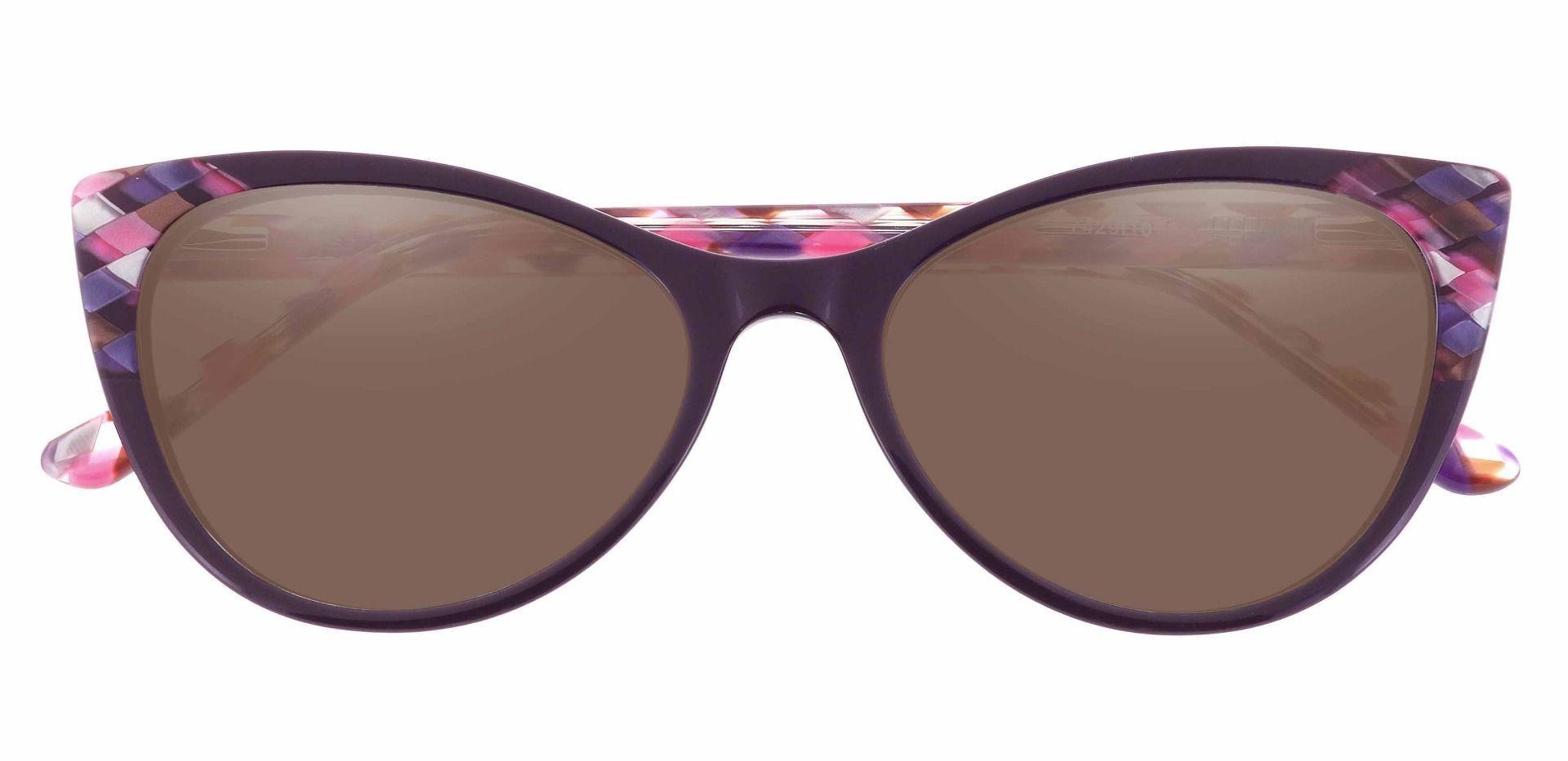 Mavis Cat Eye Prescription Sunglasses - Pink Frame With Brown Lenses