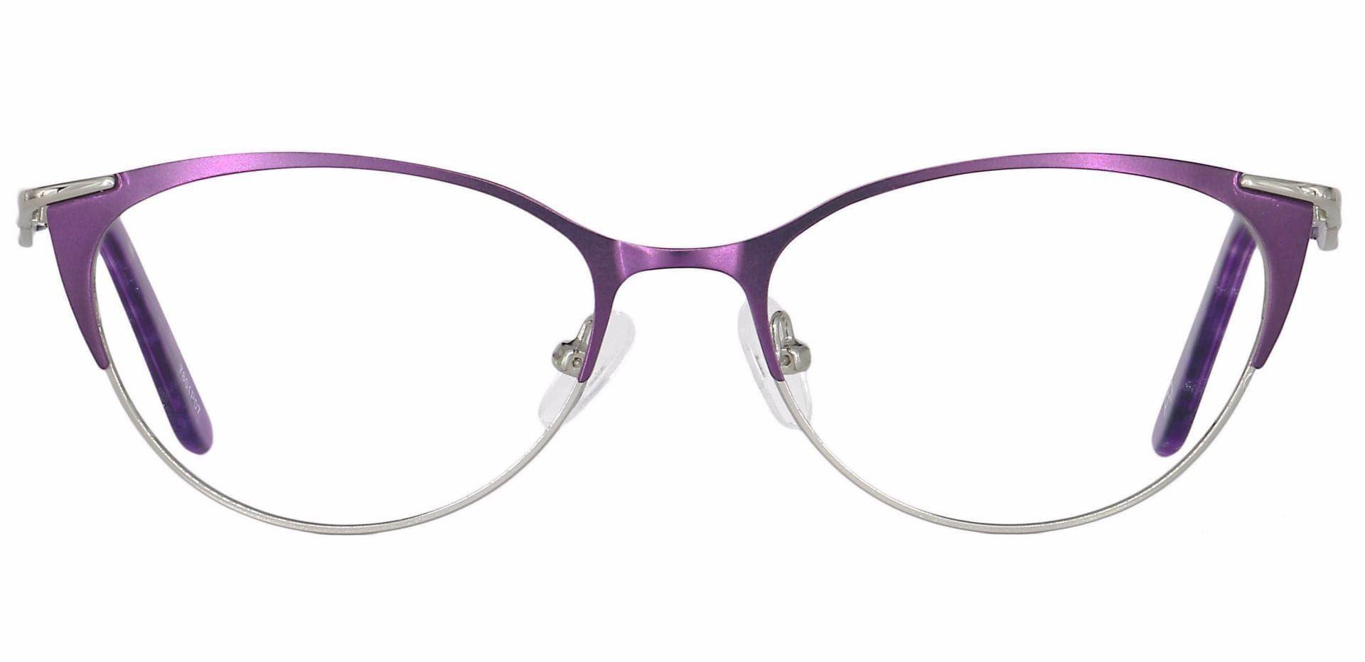 Dee Cat-Eye Lined Bifocal Glasses - Purple