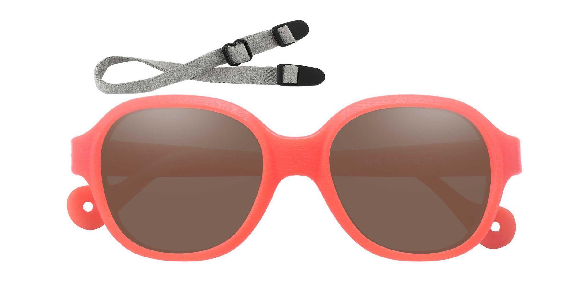 Oden Oval Prescription Sunglasses - Orange Frame With Brown Lenses