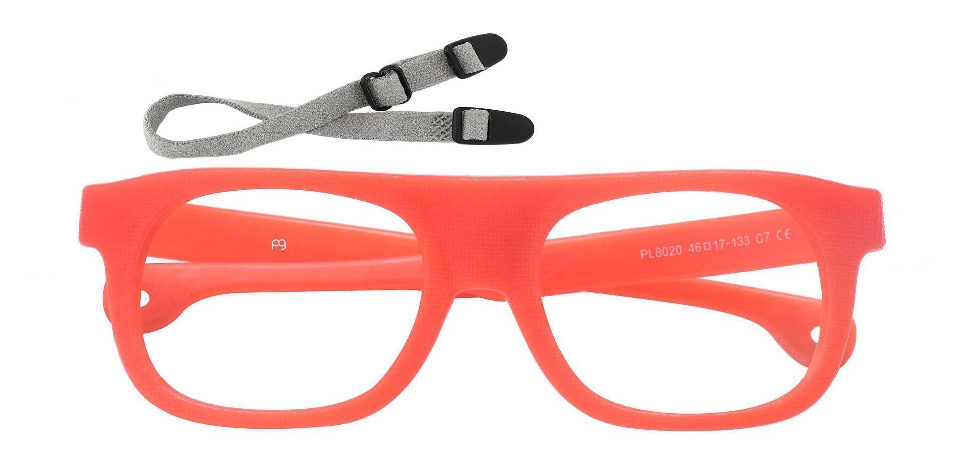 Mullen Rectangle Prescription Glasses - Orange