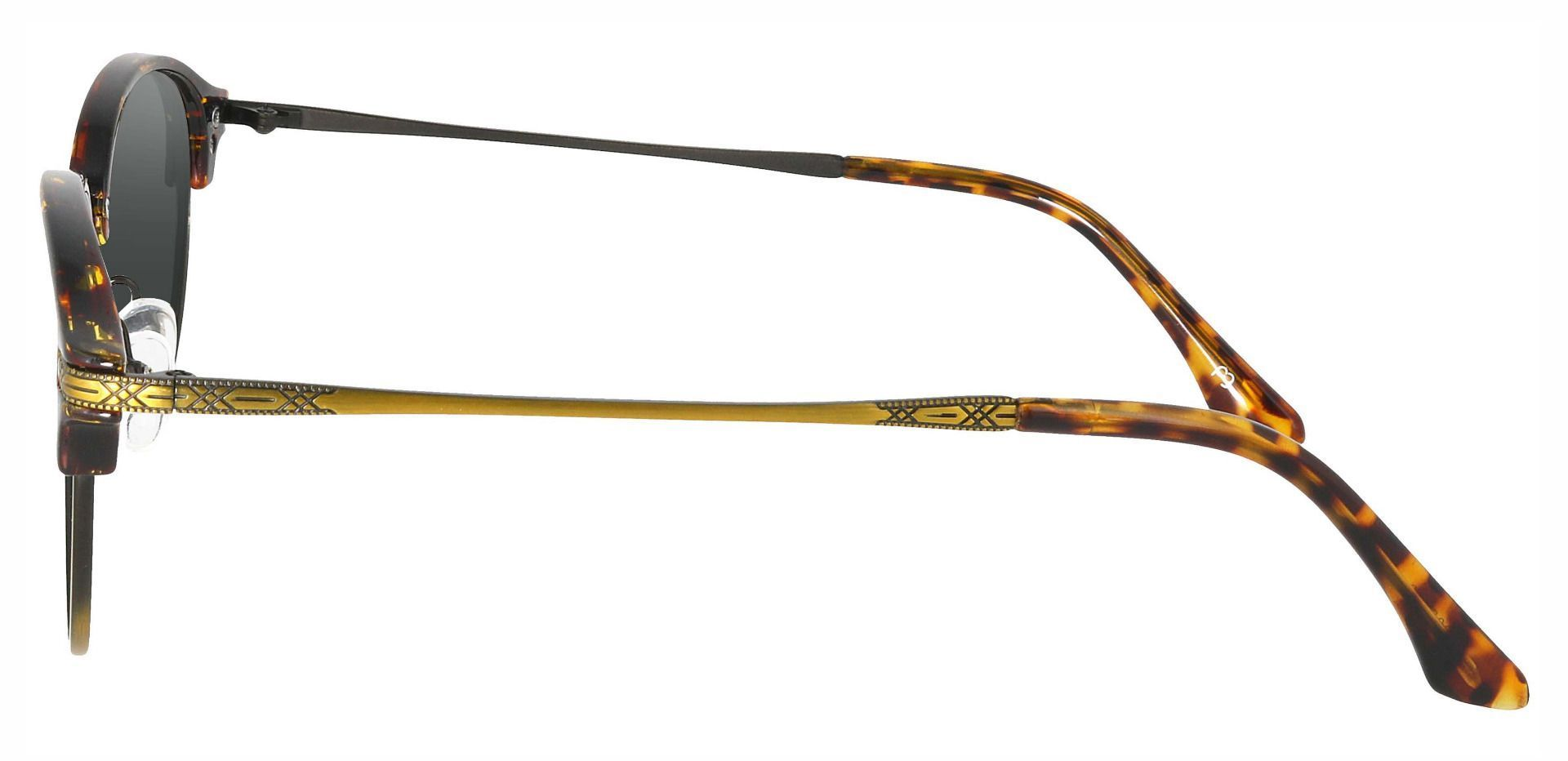 Akron Browline Lined Bifocal Sunglasses - Tortoise Frame With Gray Lenses
