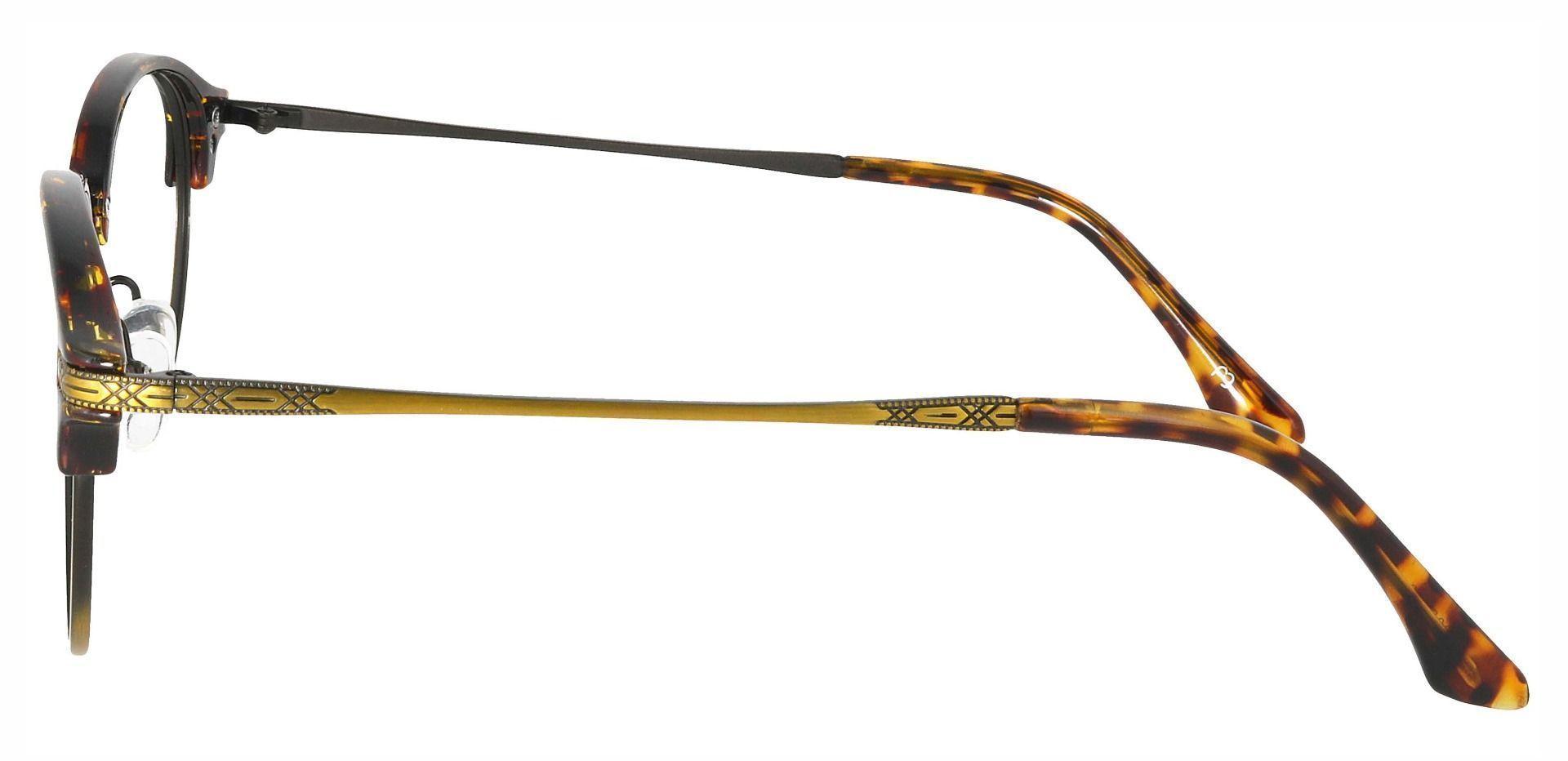 Akron Browline Prescription Glasses - Tortoise