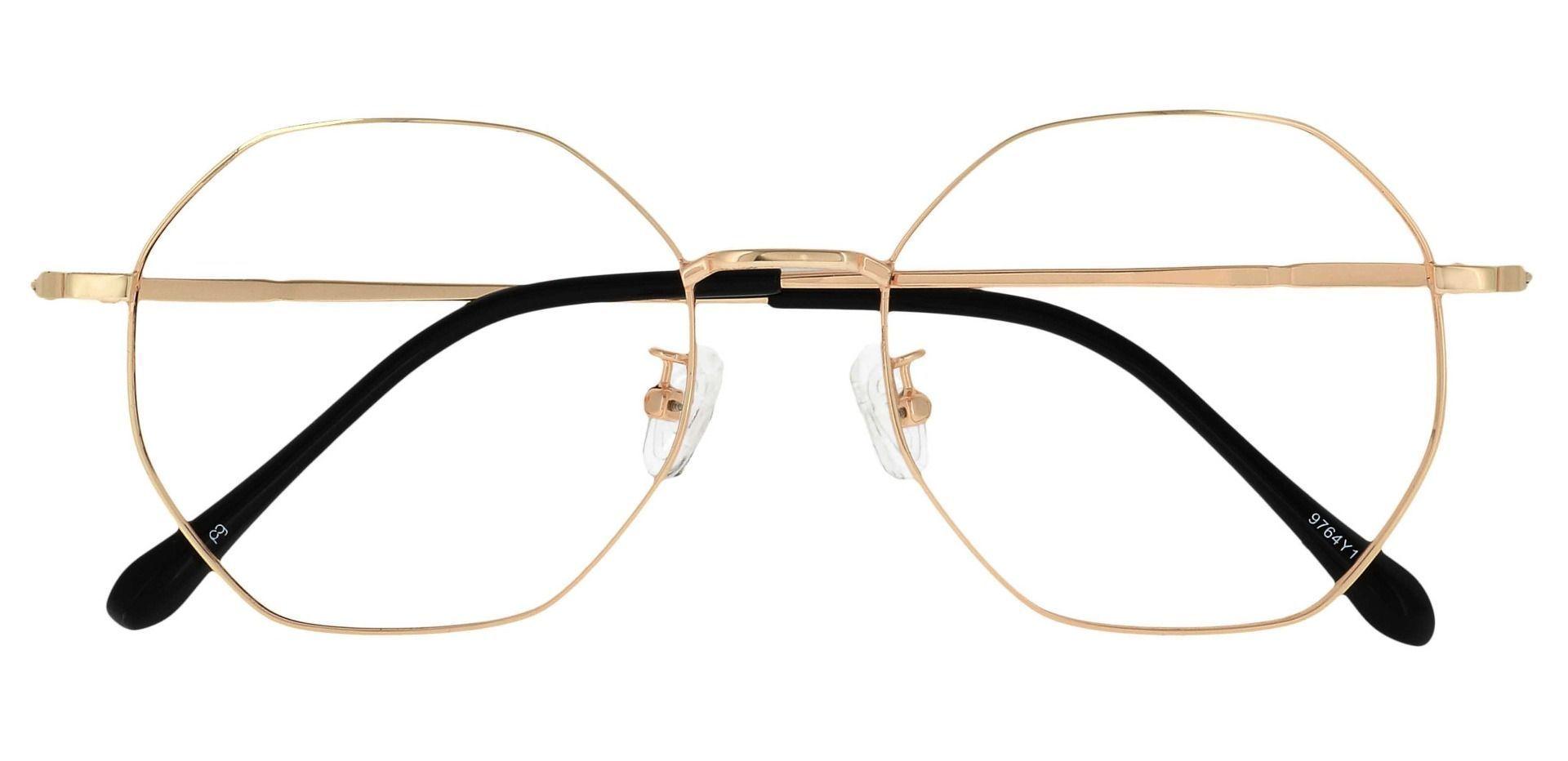 Andover Geometric Prescription Glasses - Yellow