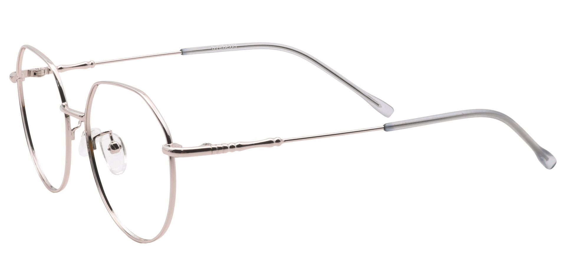Wesley Round Blue Light Blocking Glasses - Clear