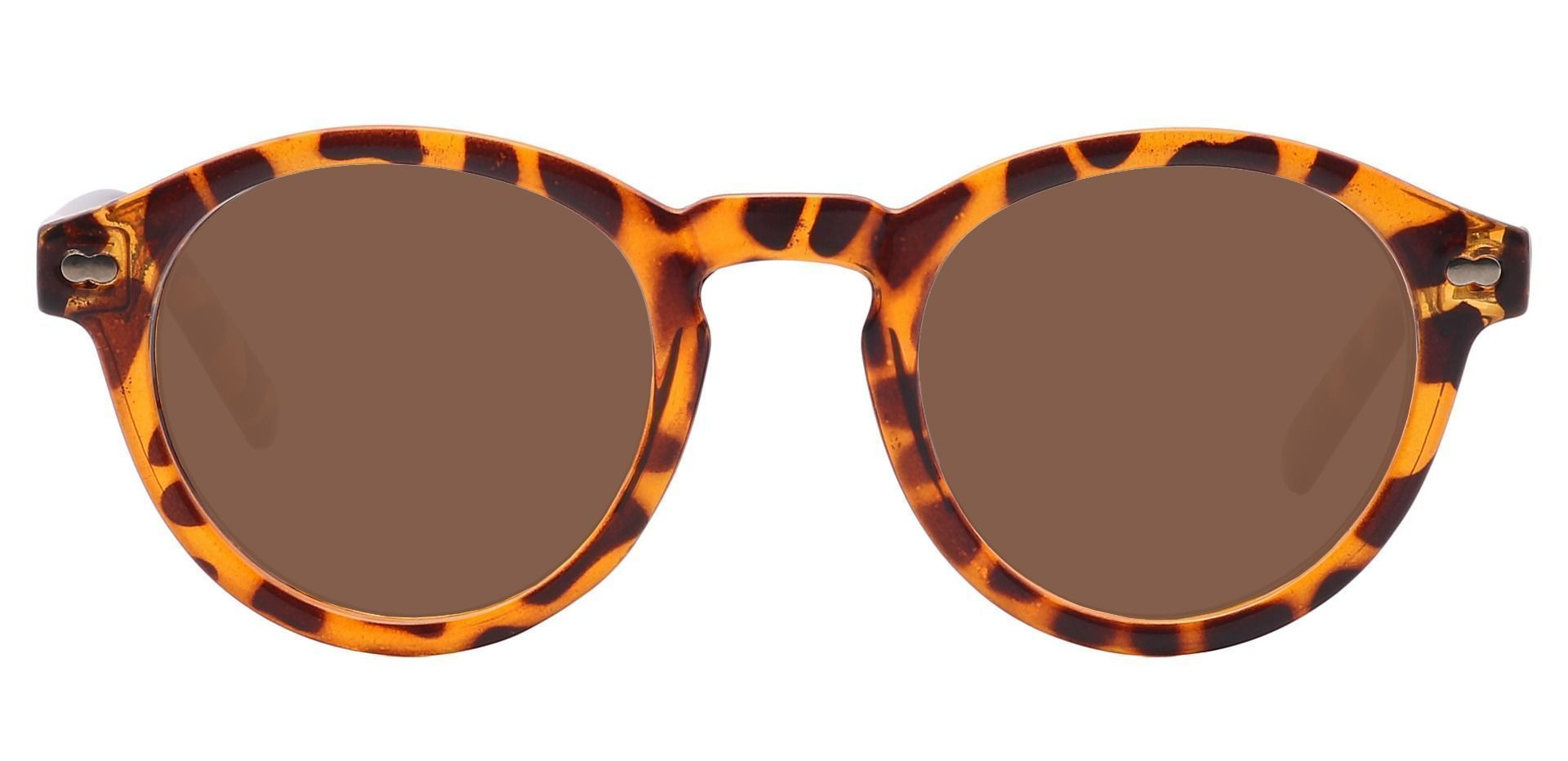 Vee Round Prescription Sunglasses - Brown Frame With Brown Lenses