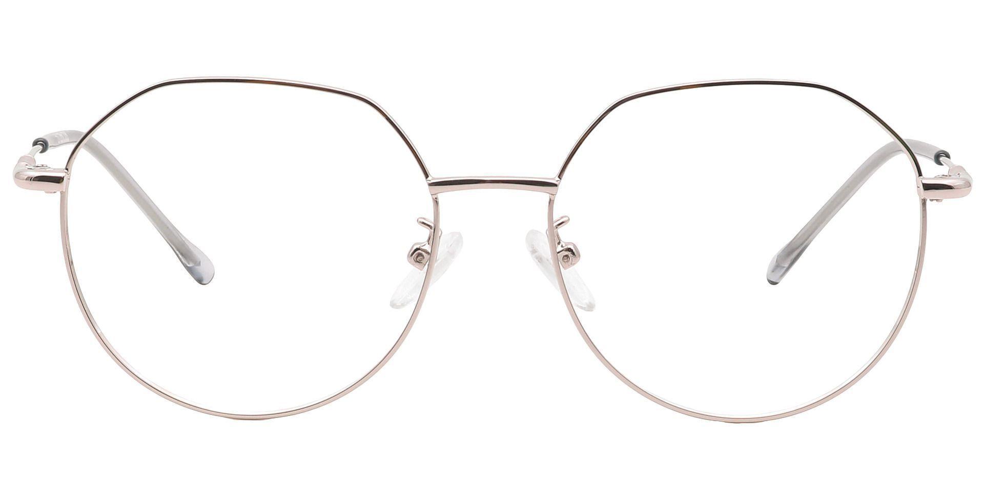 Wesley Round Eyeglasses Frame - Clear