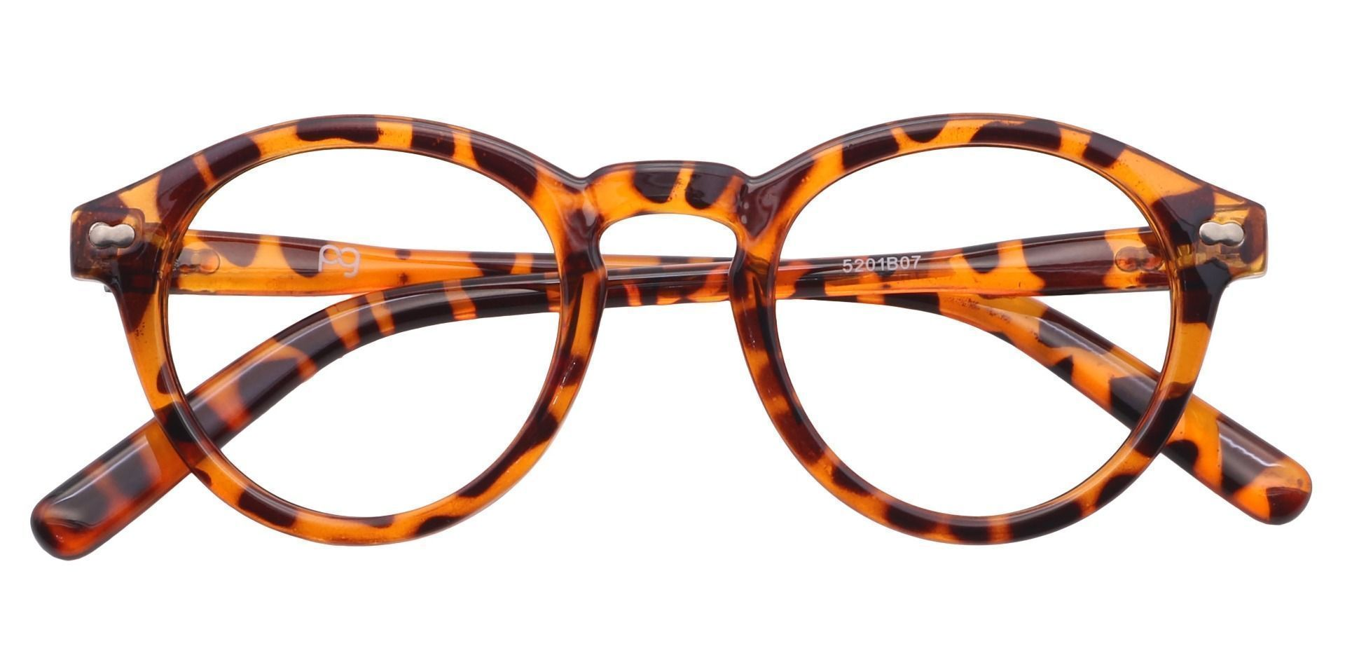Vee Round Lined Bifocal Glasses - Brown
