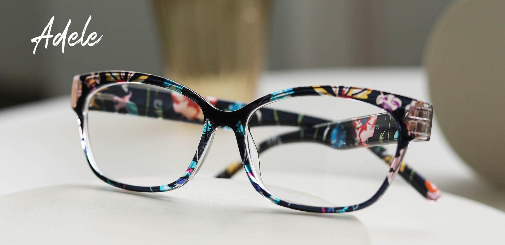 Adele Cat-Eye Prescription Glasses - Floral