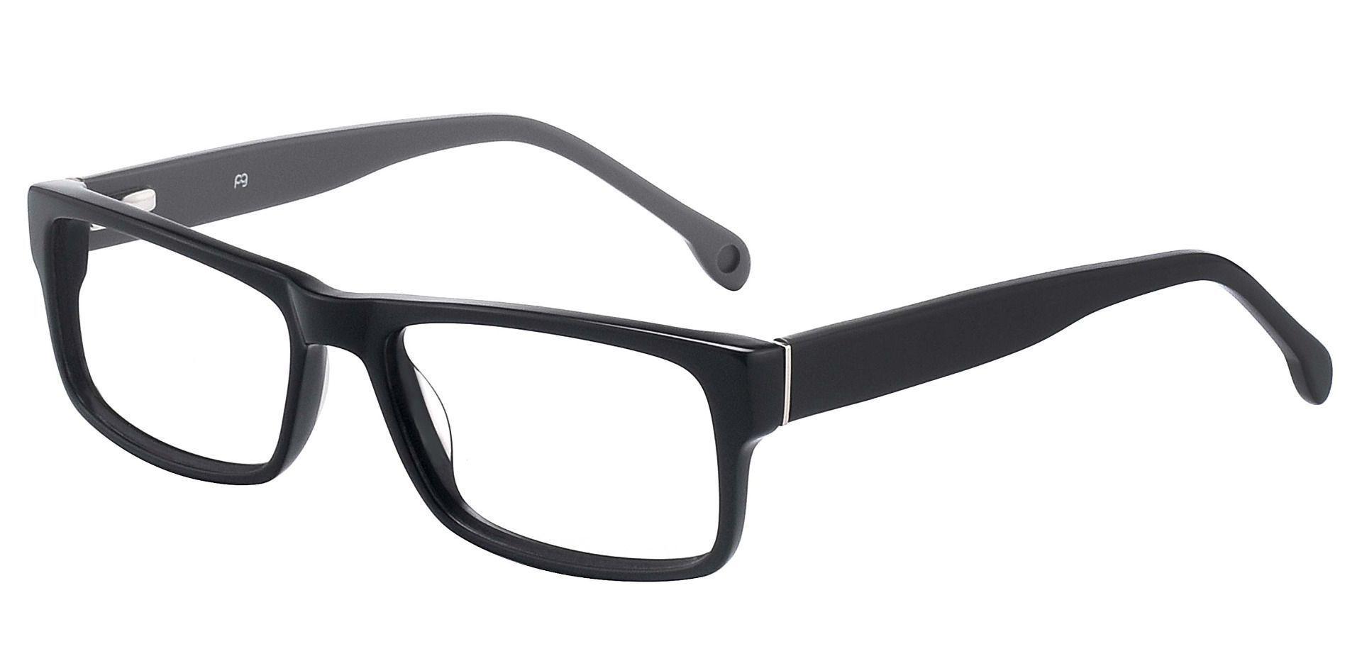 Noble Rectangle Prescription Glasses -  Shiny Black