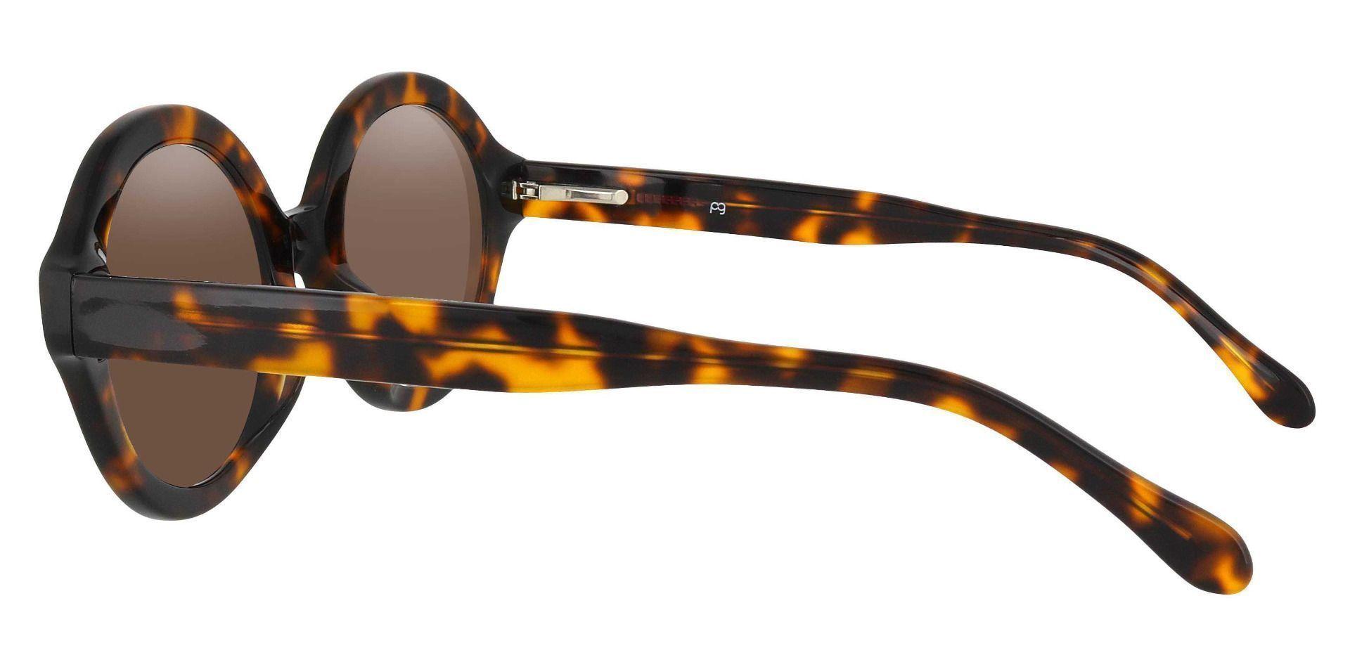 Clara Round Prescription Sunglasses - Tortoise Frame With Brown Lenses