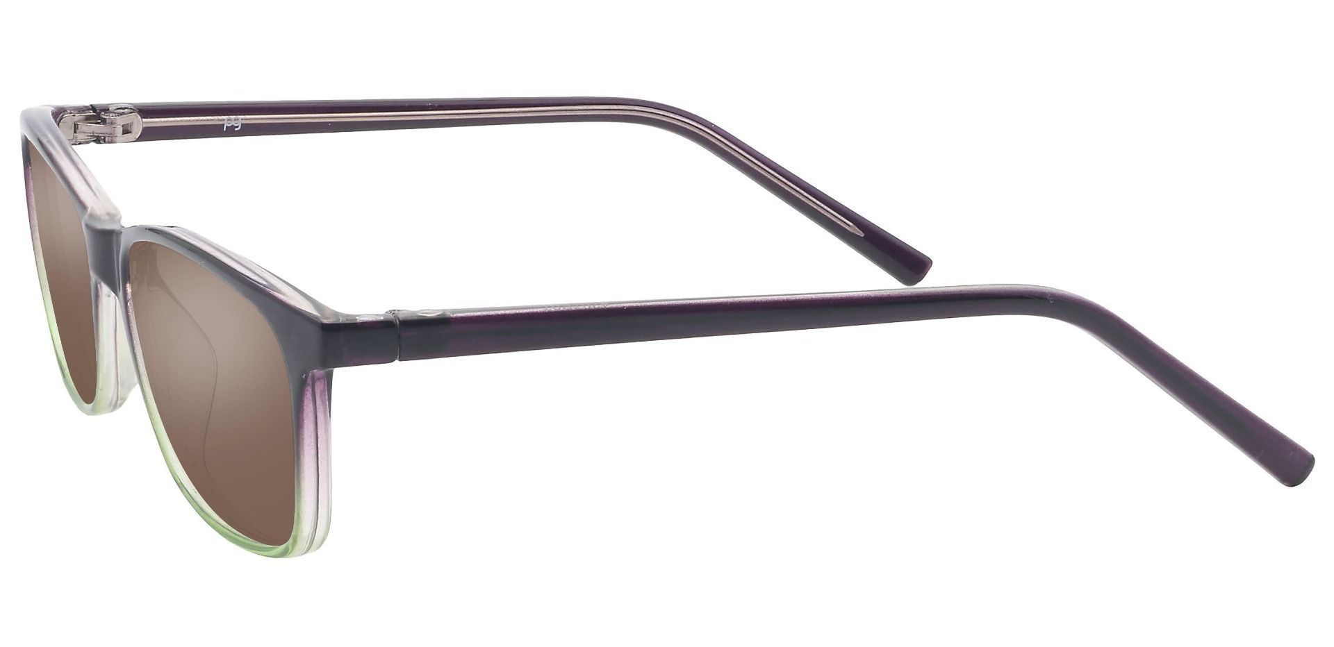 Safita Oval Lined Bifocal Sunglasses -  Purple Frame With Brown Lenses