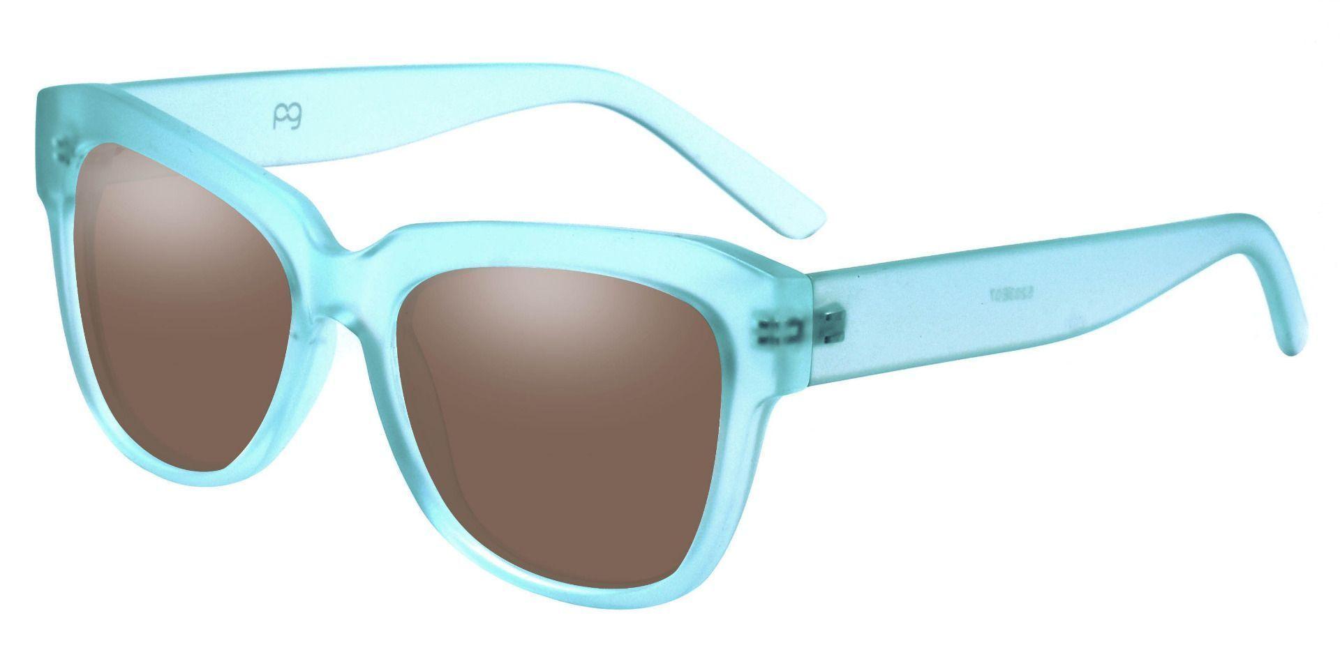 Gina Cat-Eye Progressive Sunglasses - Blue Frame With Brown Lenses