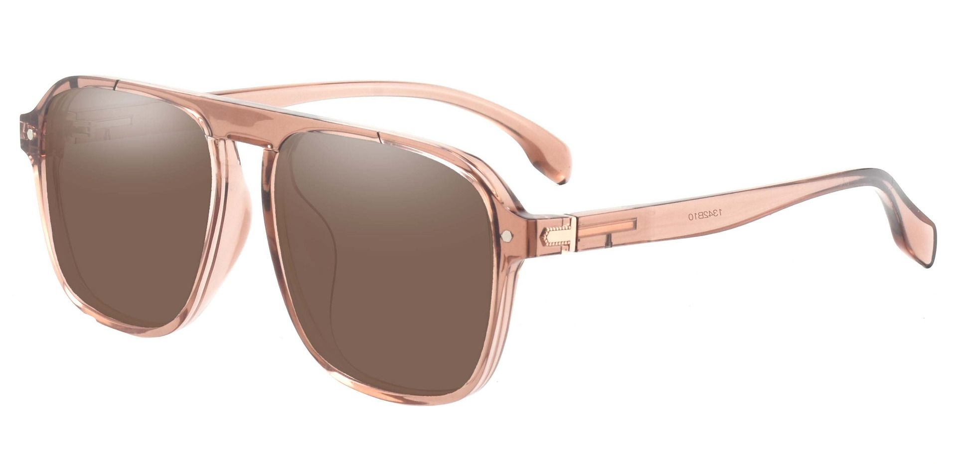 Gideon Aviator Reading Sunglasses - Brown Frame With Brown Lenses